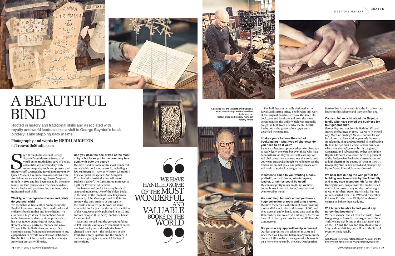 Book Binding for BathLife magazine