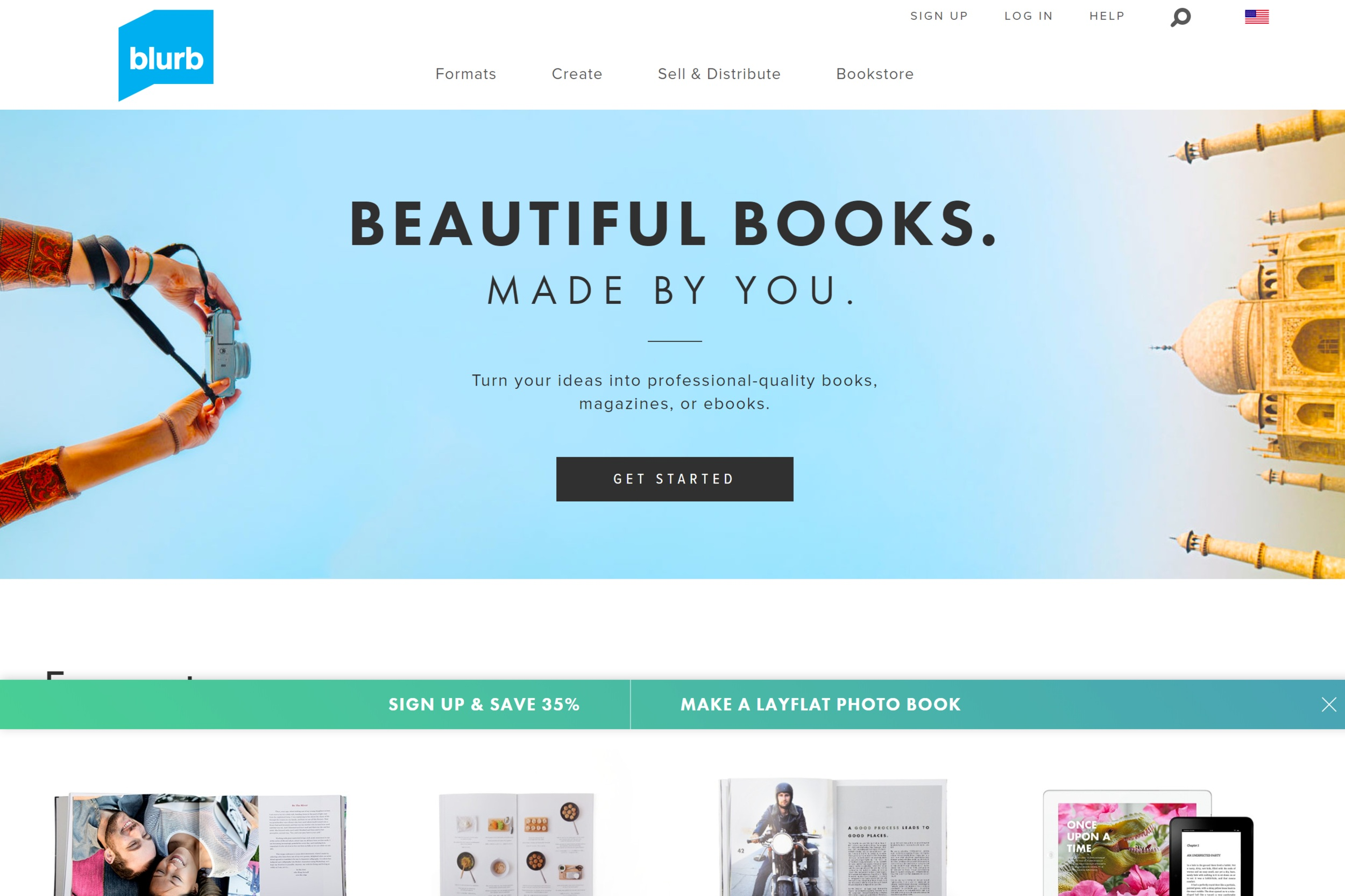 Blurb Home Page