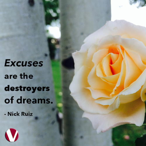 excuses are the destroyers of dreams