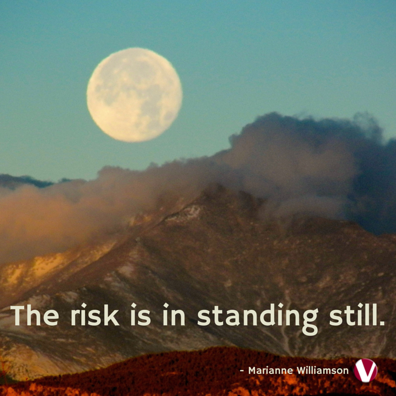 the risk is in standing still