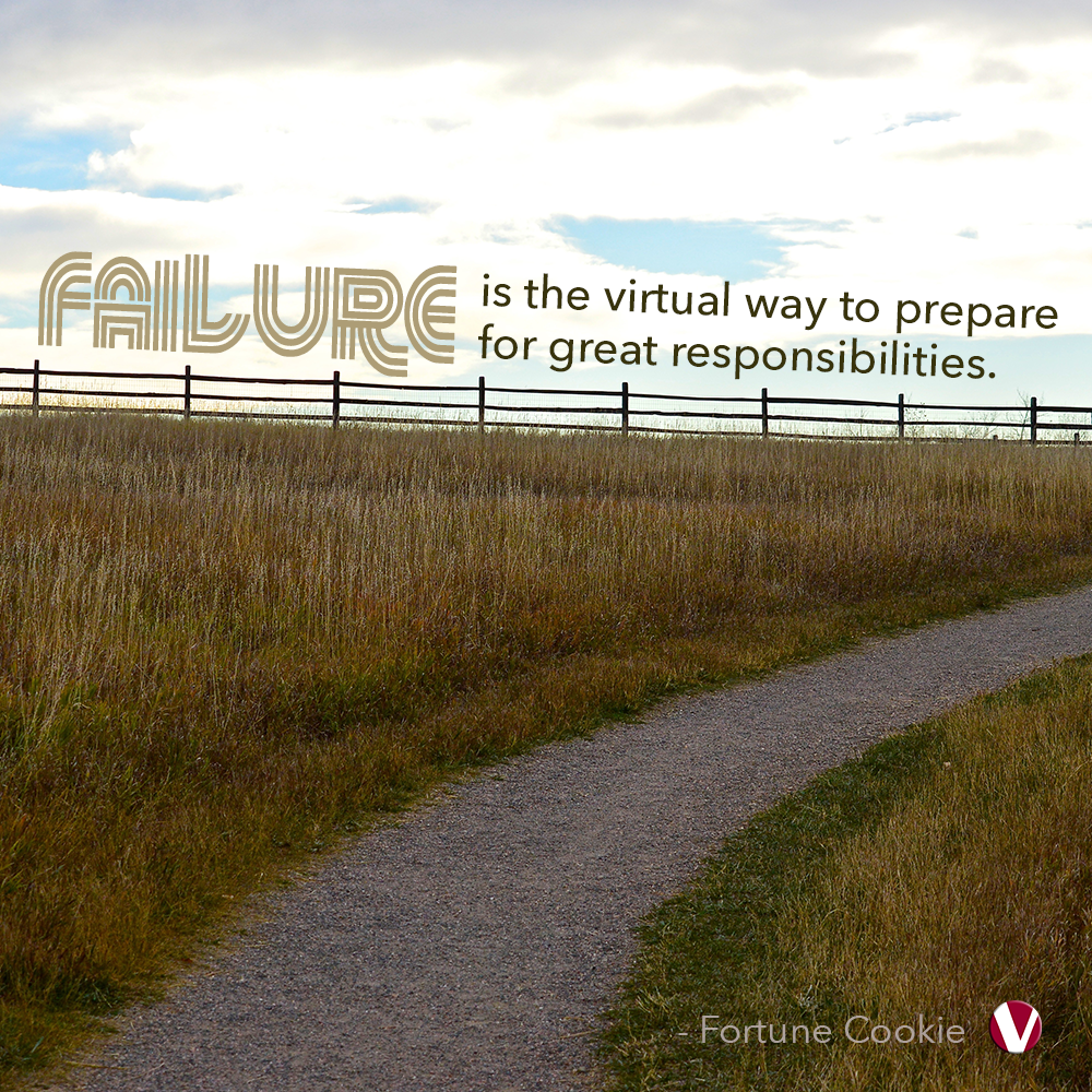 failure is the virtual way to prepare for great responsibilities