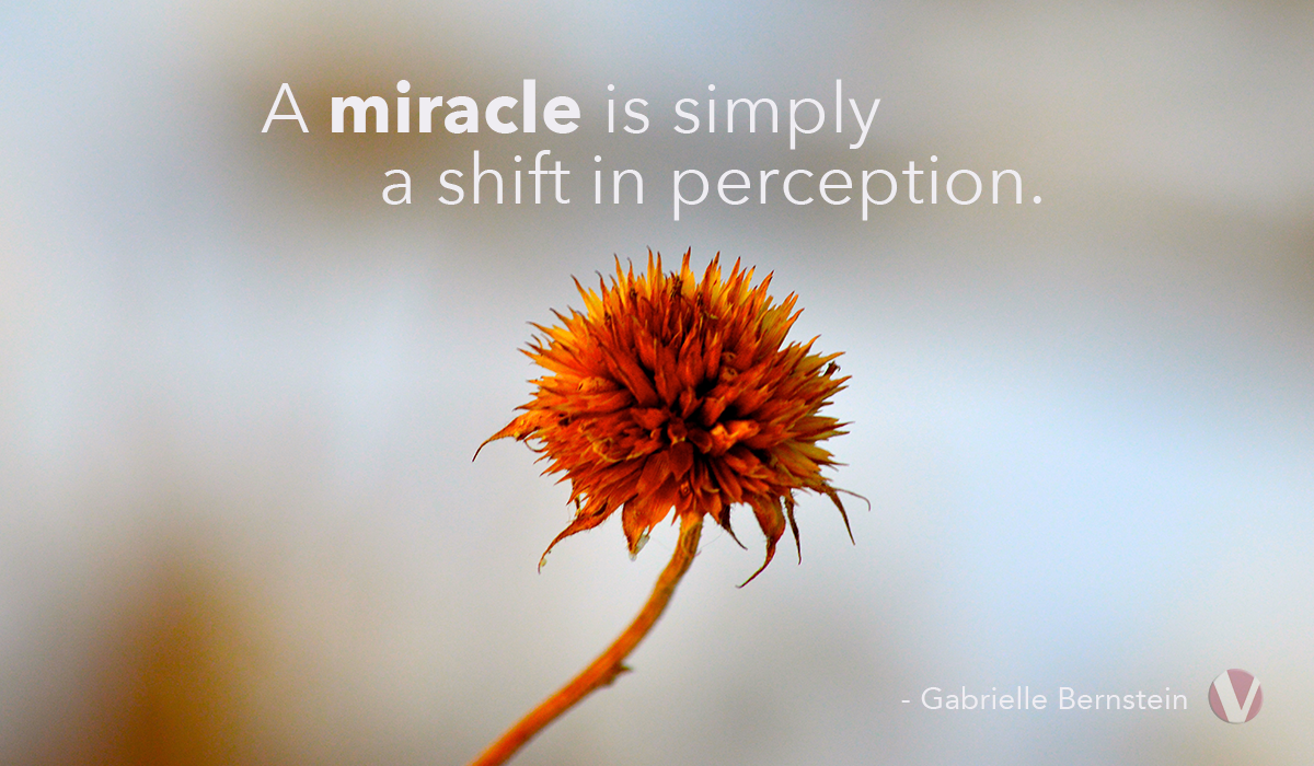 a miracle is simply a shift in perception