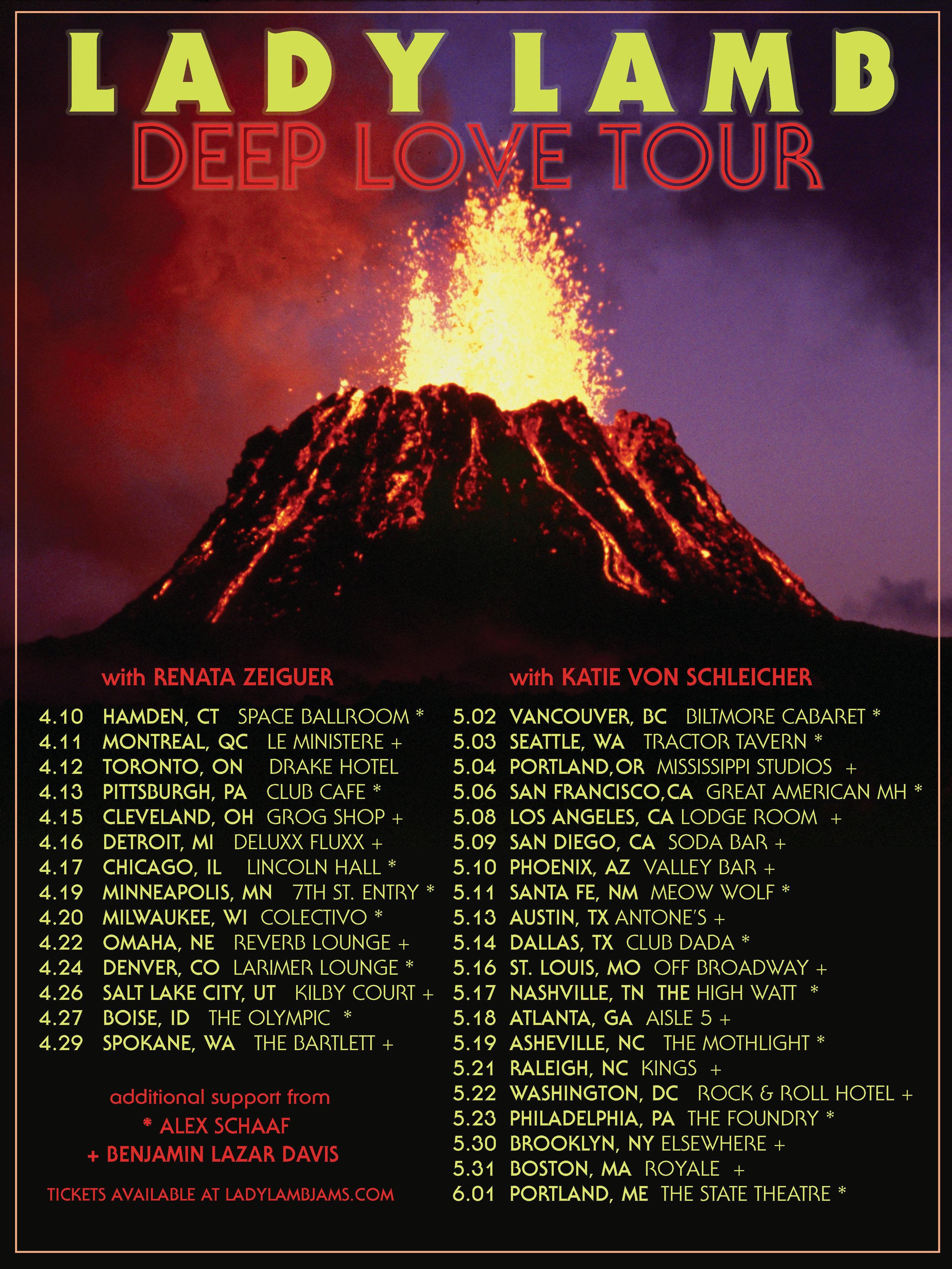 Deep Love tour dates.