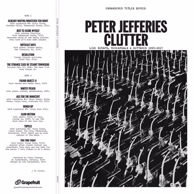Very last day you can order PeterJefferies' Clutter LP, the bonus record we are releasing with his Last Ticket Home. You can hear his cover of Sebadoh's Whitey Peach thanks to the benevolent link in our bio.