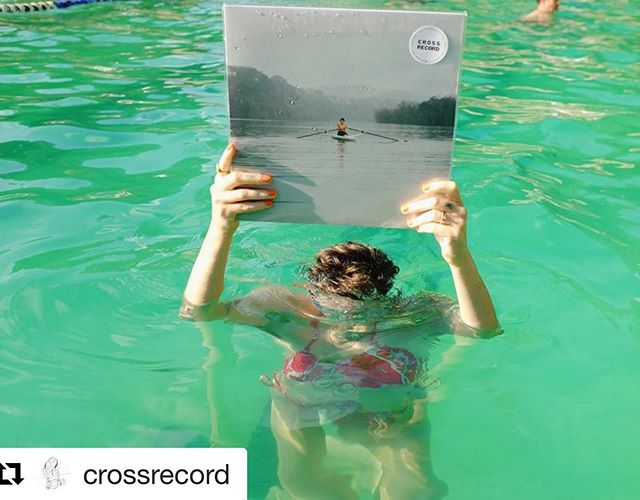 #Repost @crossrecord ・・・ I release you, Cross Record彡彡彡! Please buy it. . . . Endless love and appreciation to all who made this possible, and to my friend Marlon for snapping this pic of me in my happy place yesterday getting this record all wet.