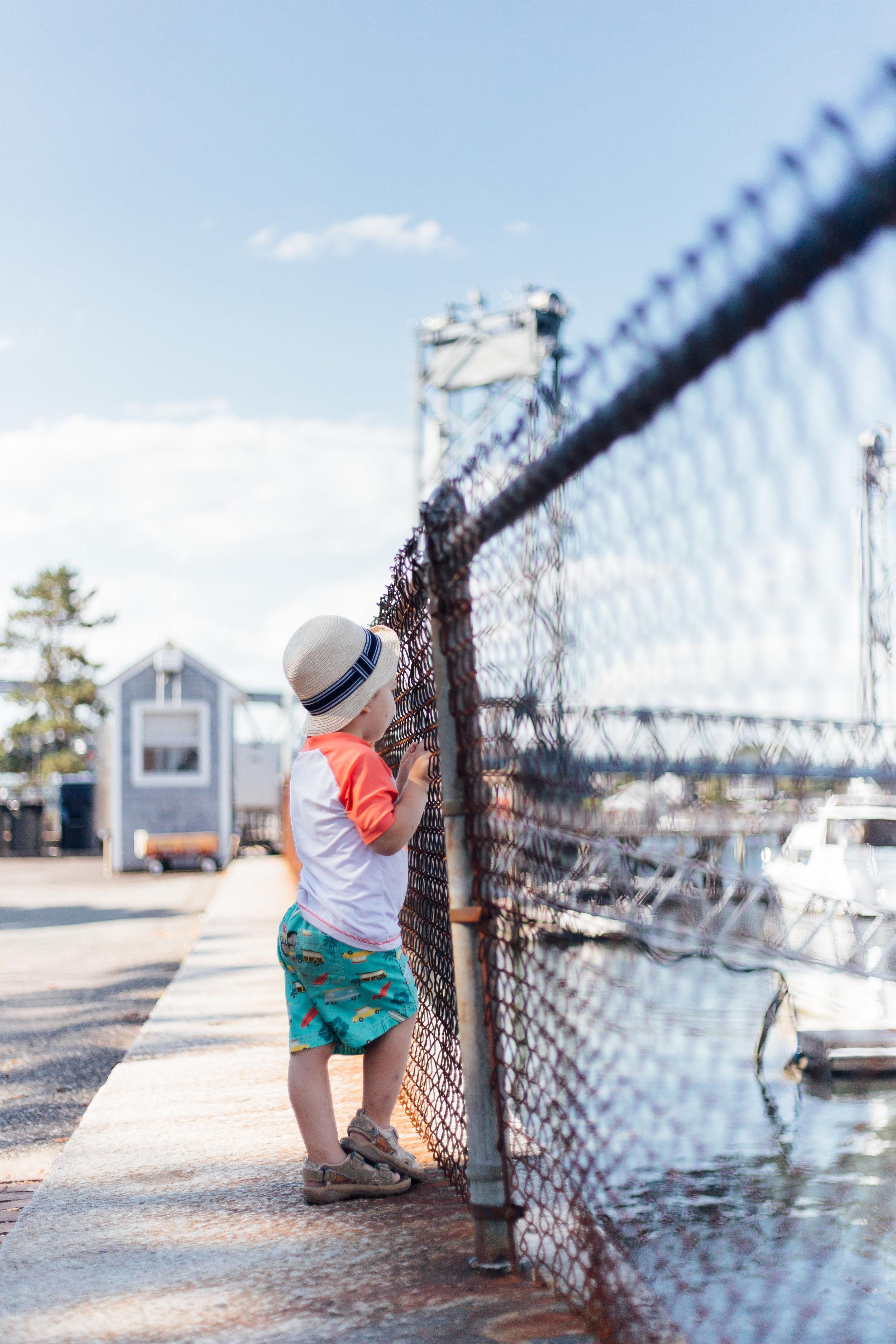 Little Boy Watching Boats