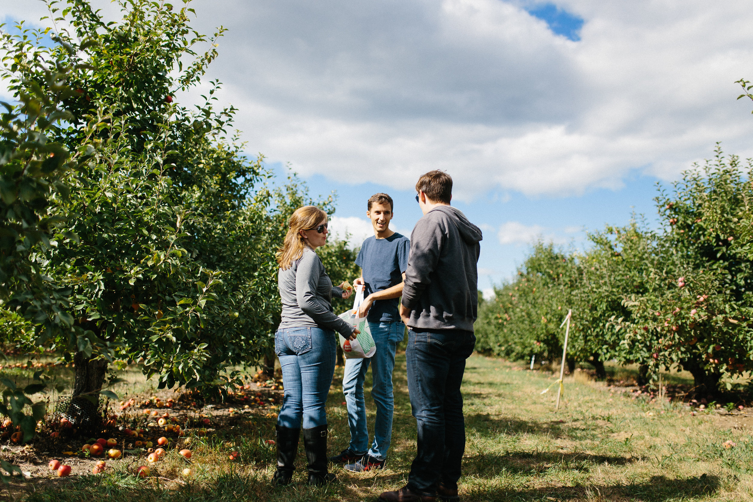 Friends Going Apple Picking