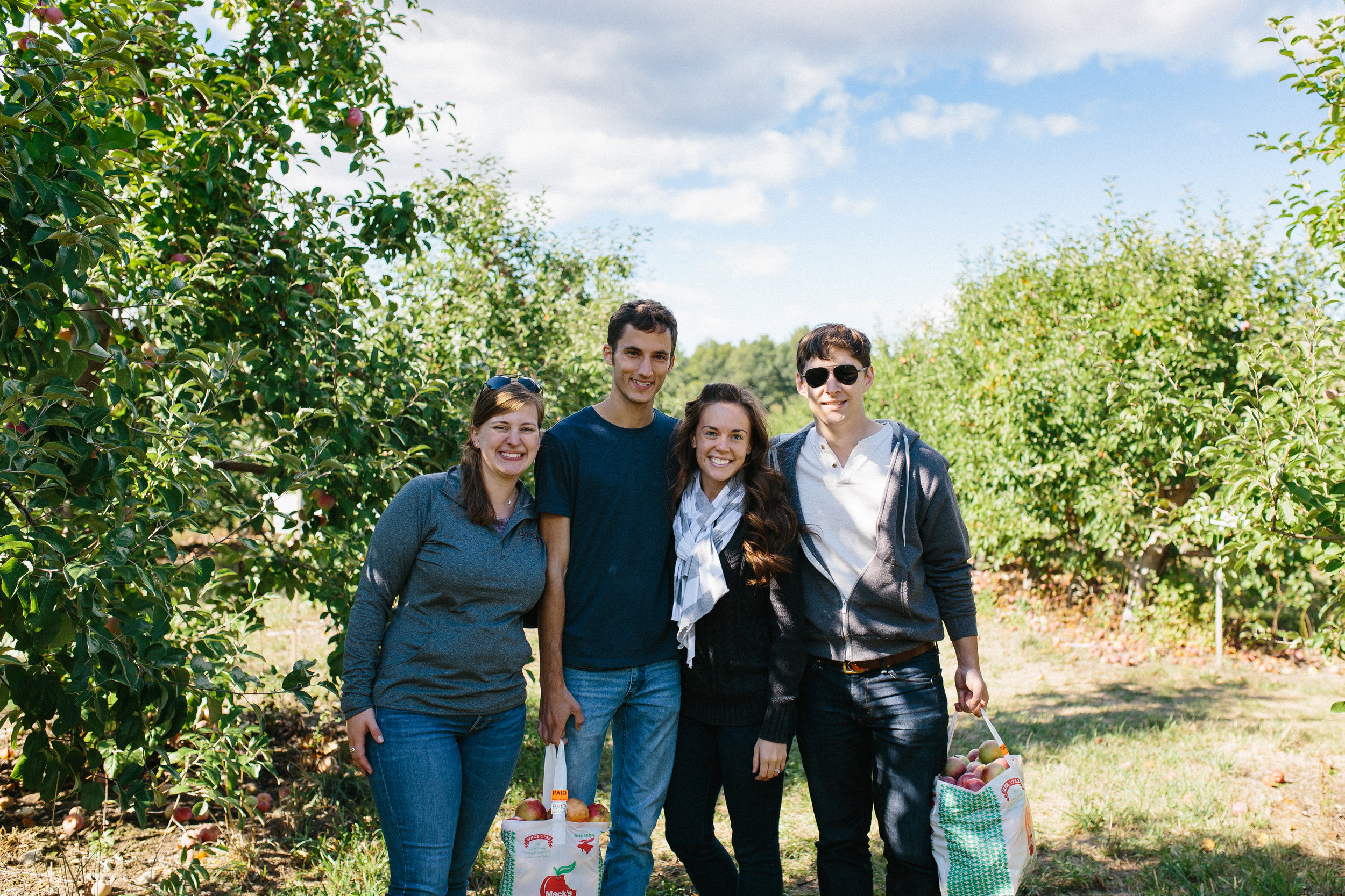 Happy Friends Apple Picking and Hanging Out