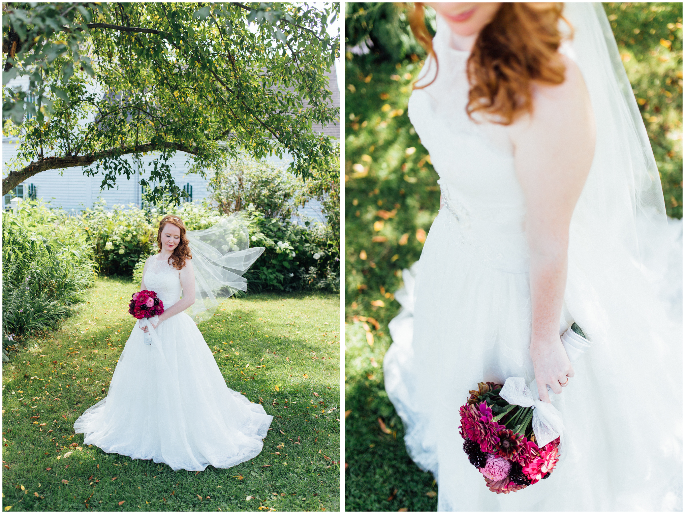 Beautiful bride portraits in Vermont