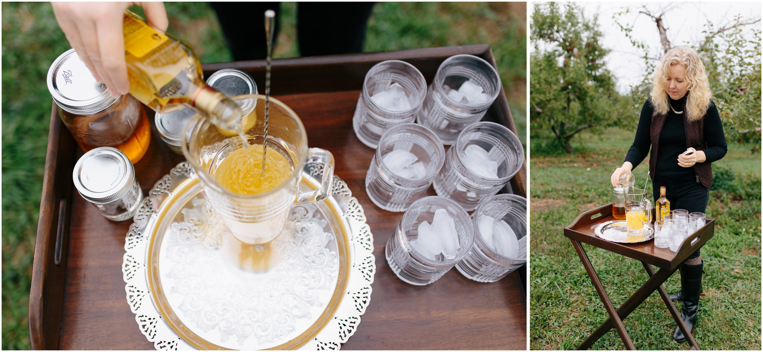 Debbie Harpe uses Jose Cuervo tequila to make delicious mixed drinks (cocktails) for her orchard Sunday picnic