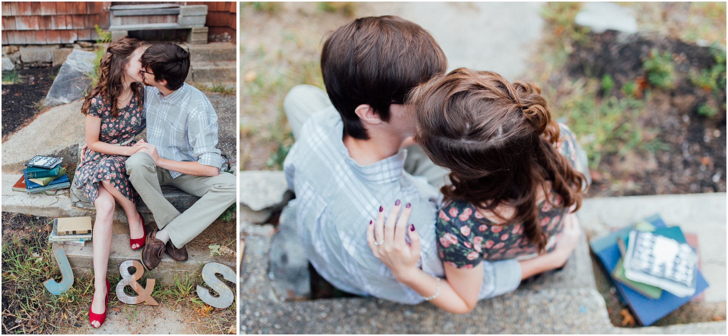 Cute engagement photography in Merrimack, New Hampshire