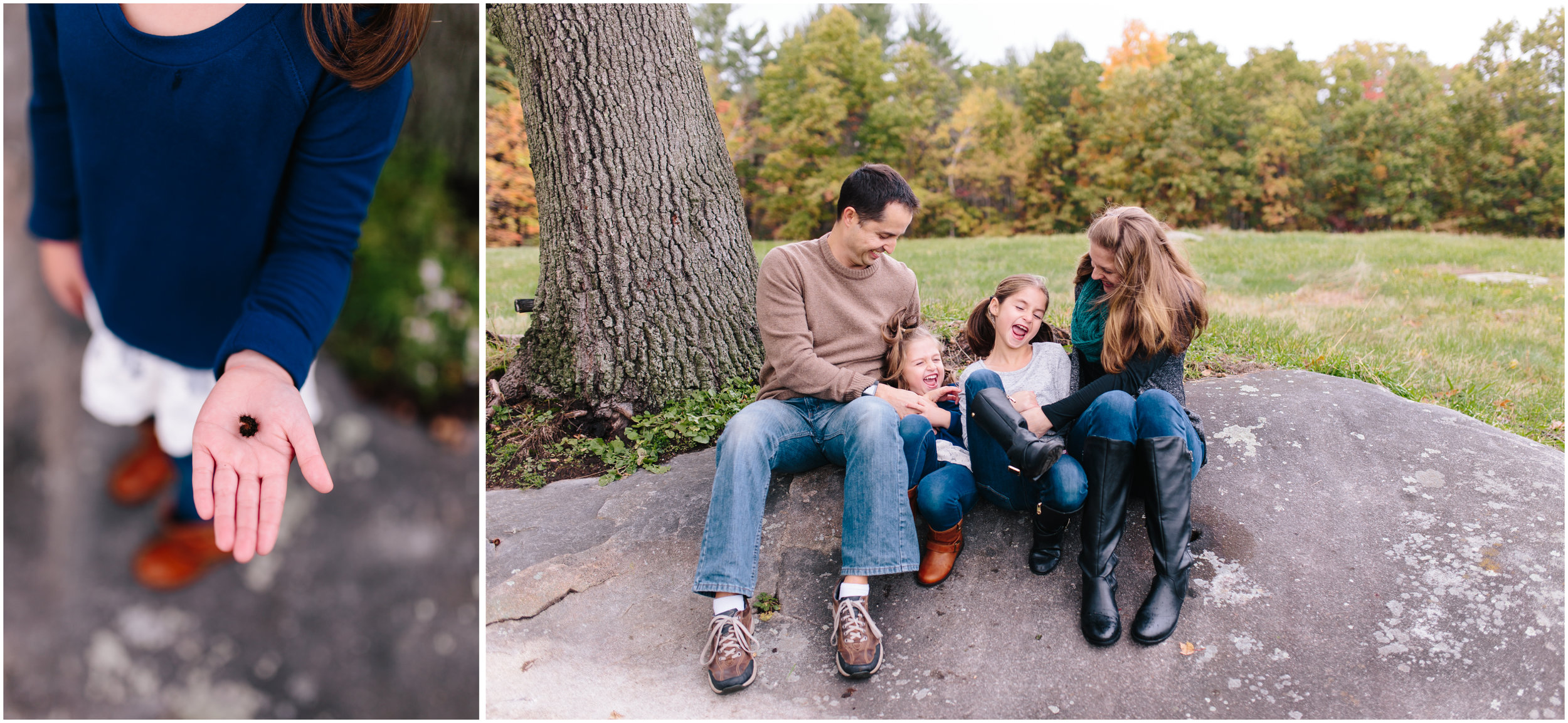 Fall autumn Monson Village Center family photography in Milford, New Hampshire