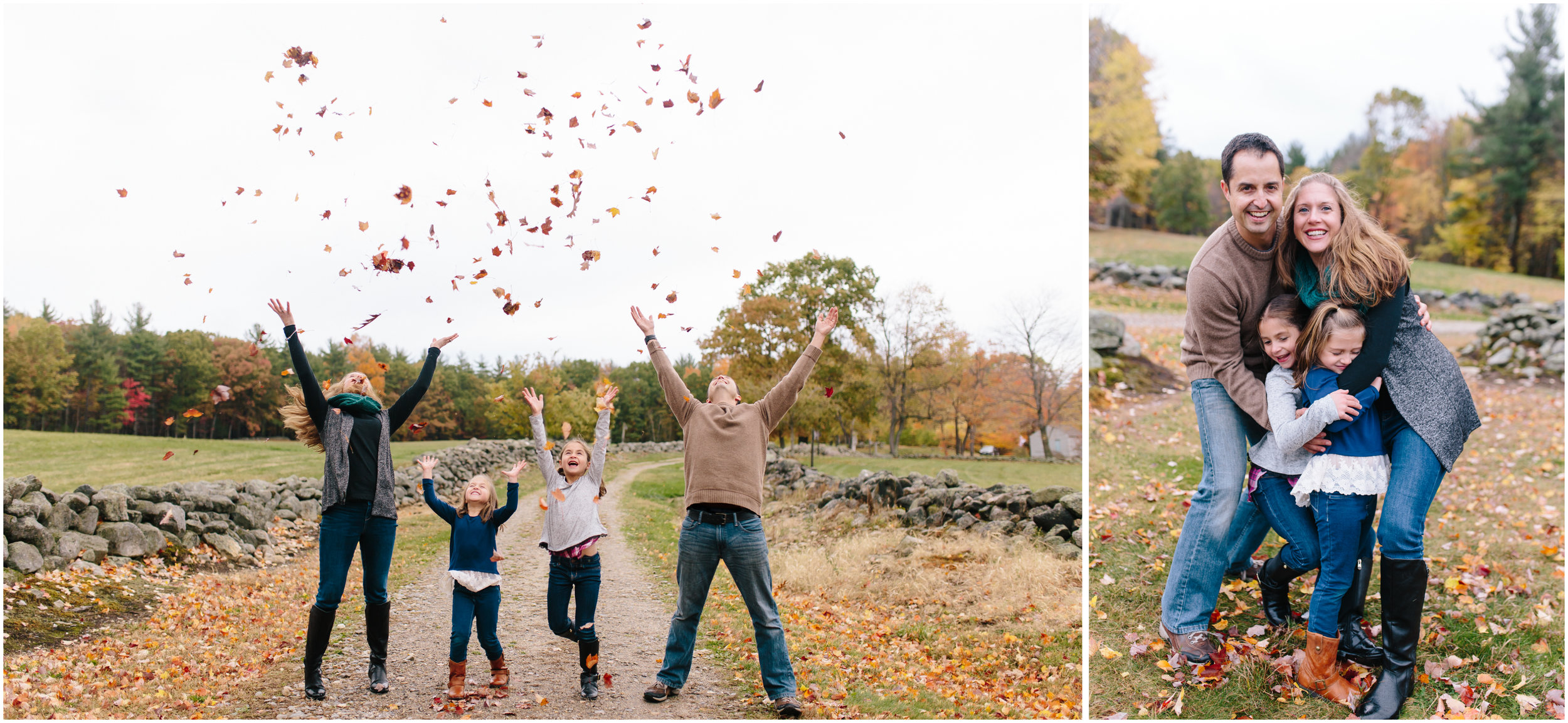 Monson Village Center family photography in Milford, New Hampshire leaves fall autumn