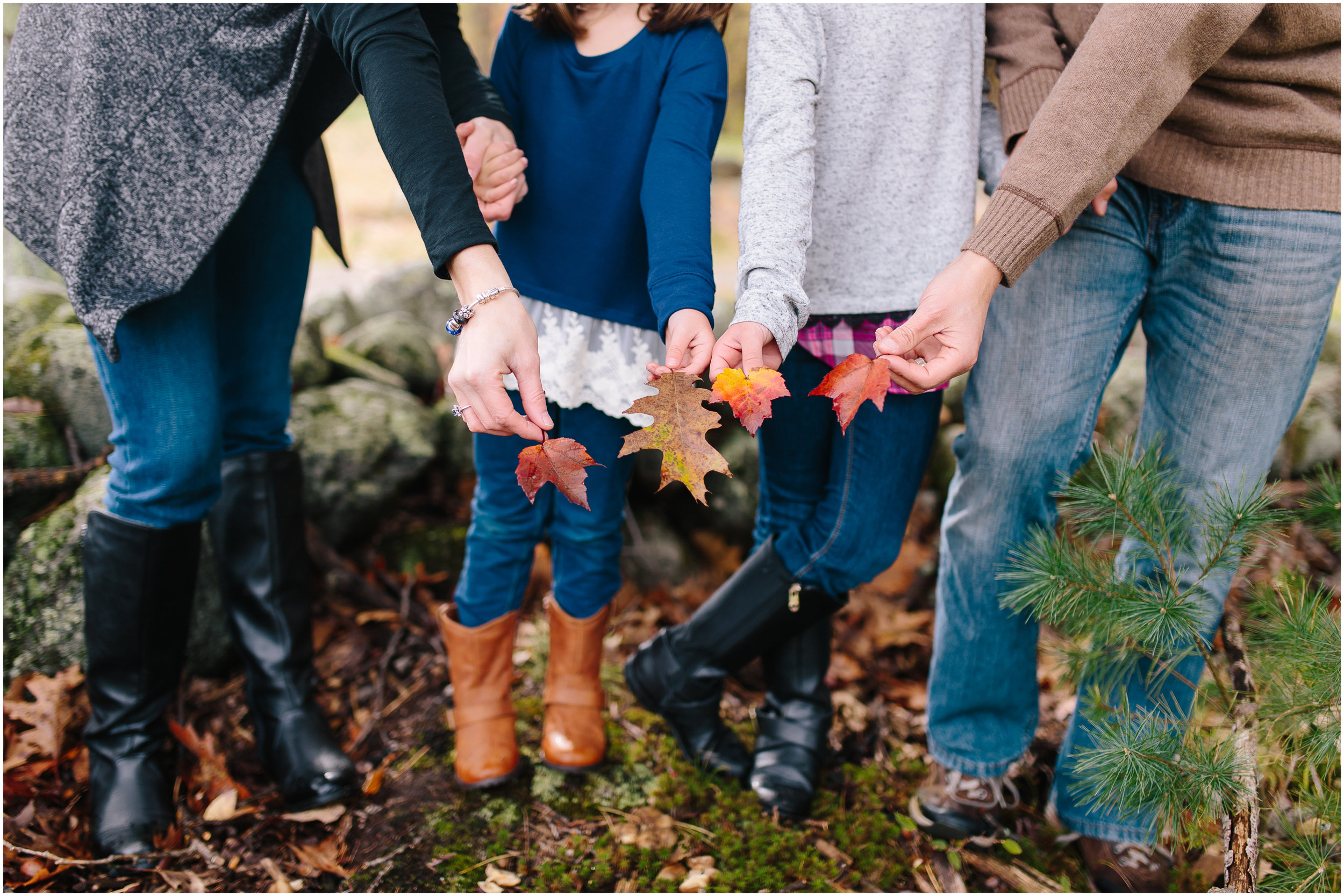 Fall autumn leaves Monson Village Center family photography in Milford, New Hampshire
