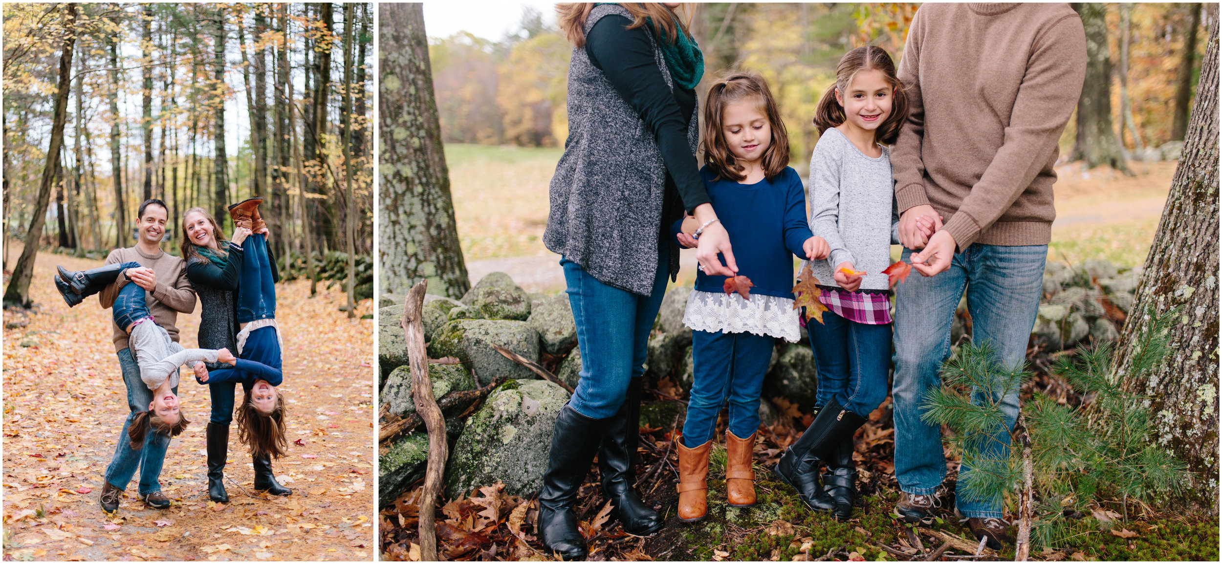 Fall autumn Monson Village Center family photography in Milford, New Hampshire funny