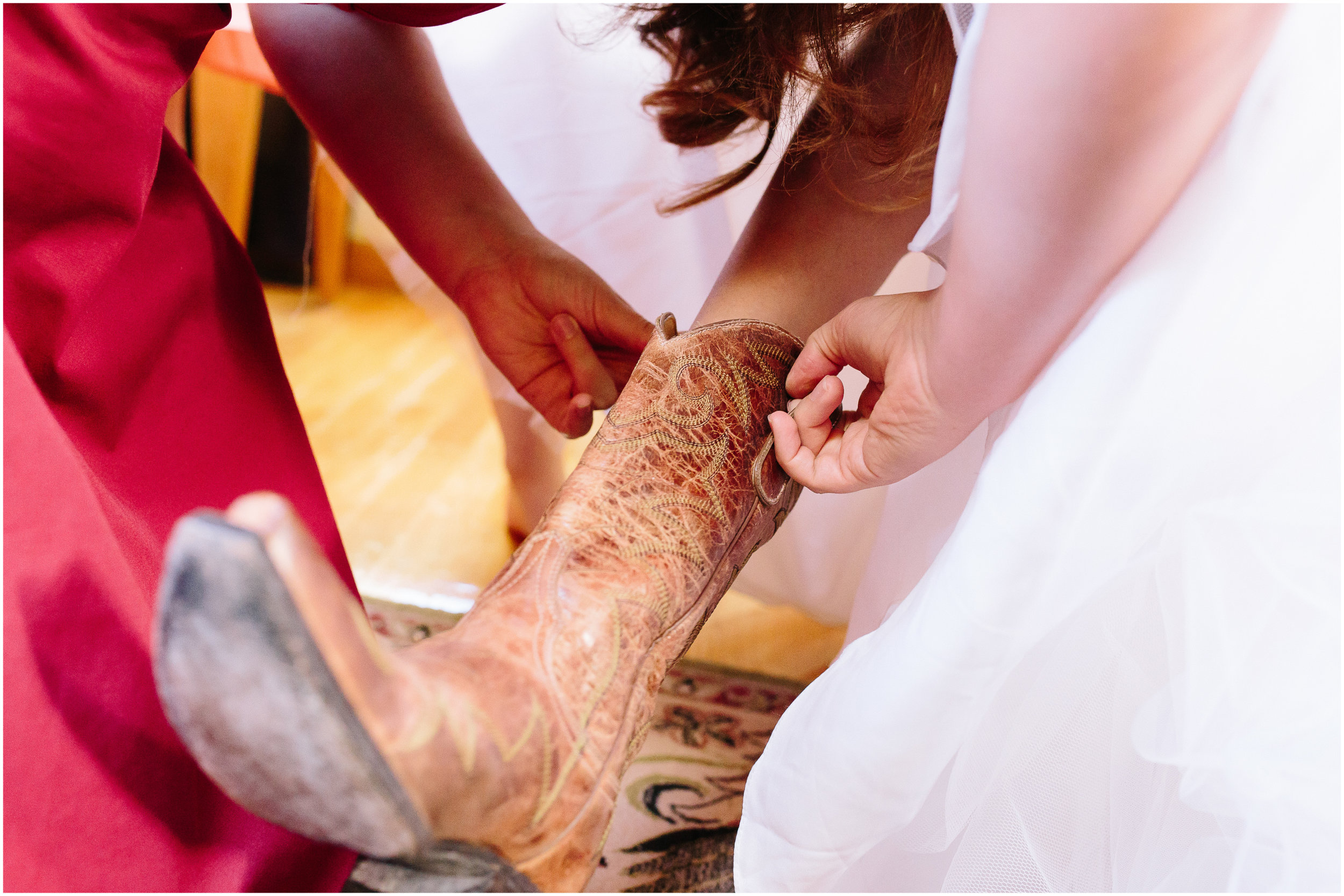 Ashleigh Laureen Photography Journalistic Fall Wedding in Hooksett, New Hampshire, Bride's Boots