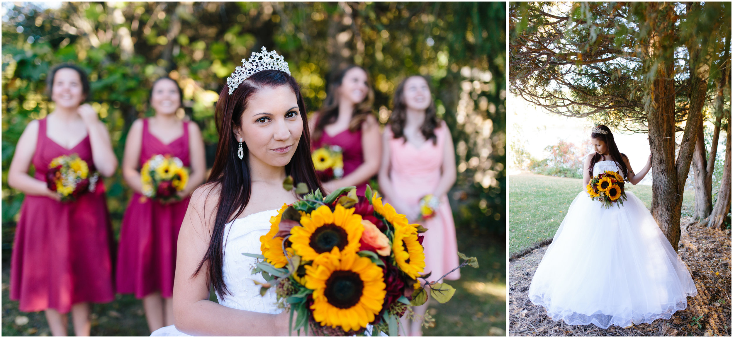 Ashleigh Laureen Photography Journalistic Fall Wedding in Hooksett, New Hampshire, Bride and Bridesmaids