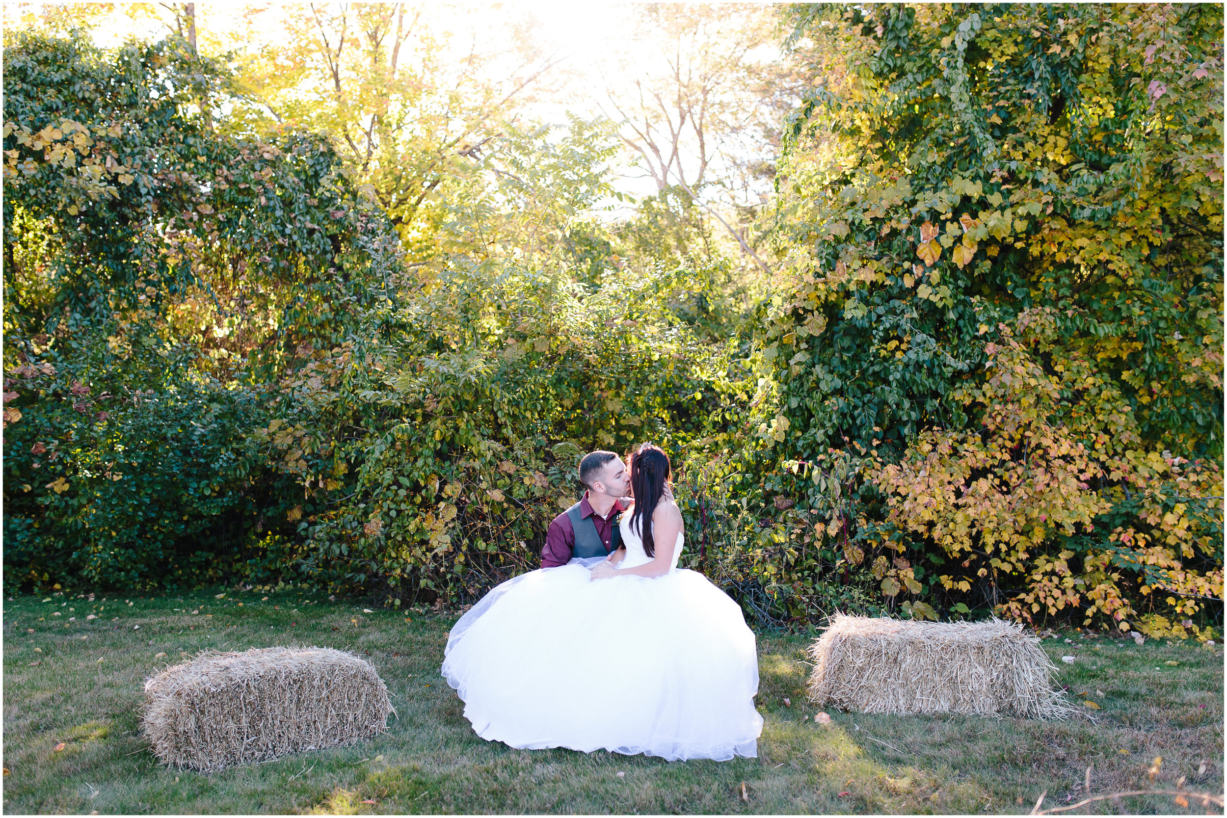 Ashleigh Laureen Photography Journalistic Fall Wedding in Hooksett, New Hampshire, Bride and Groom