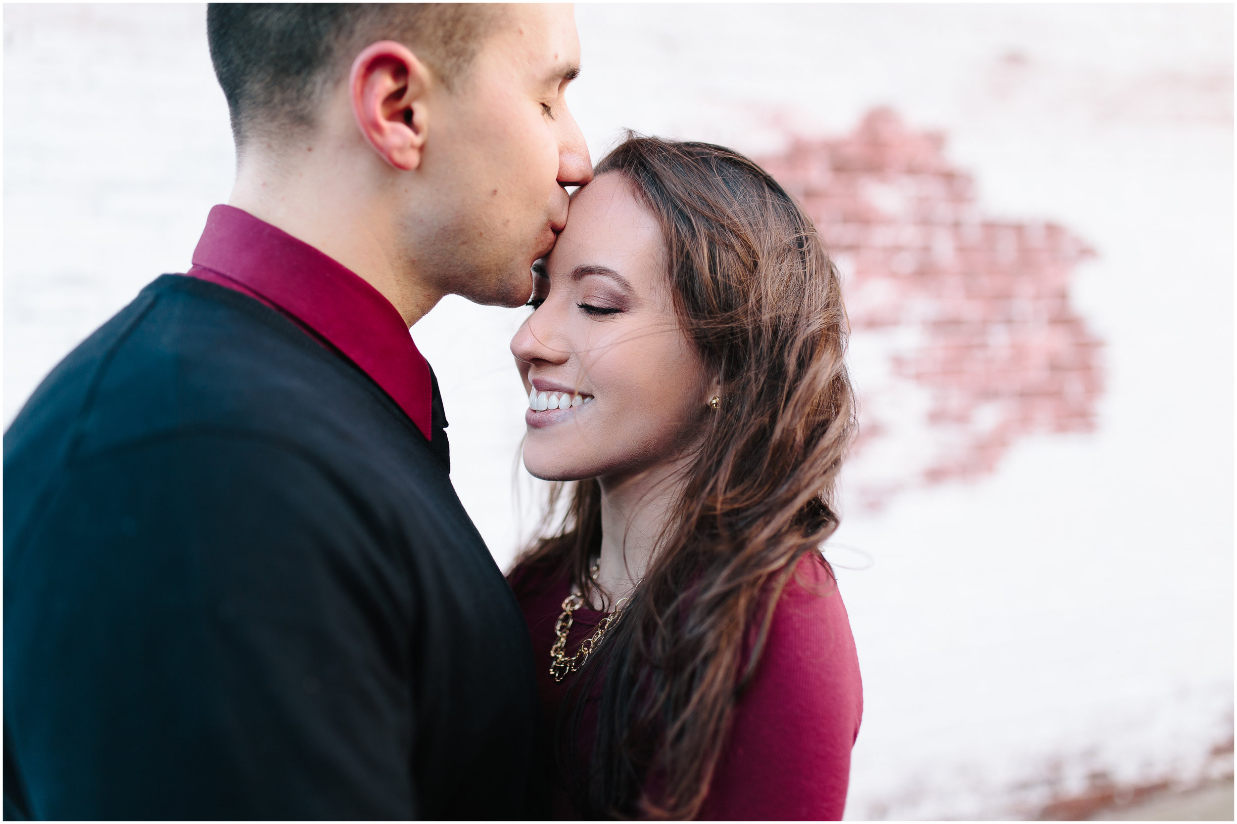Classy winter engagement in downtown Concord, New Hampshire, Intimate