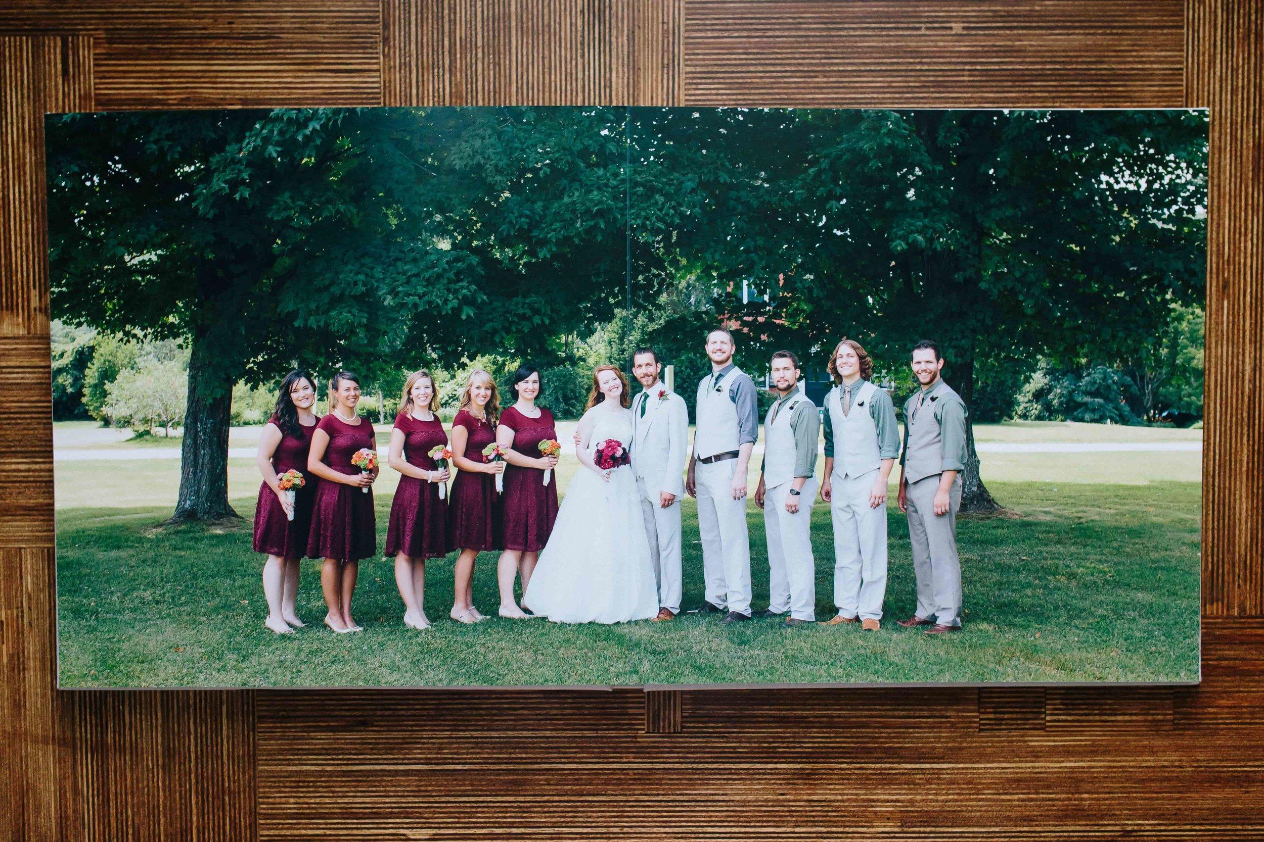 Ashleigh Laureen Photography Journalistic Wedding in New Hampshire, Keepsake Signature Heirloom Album