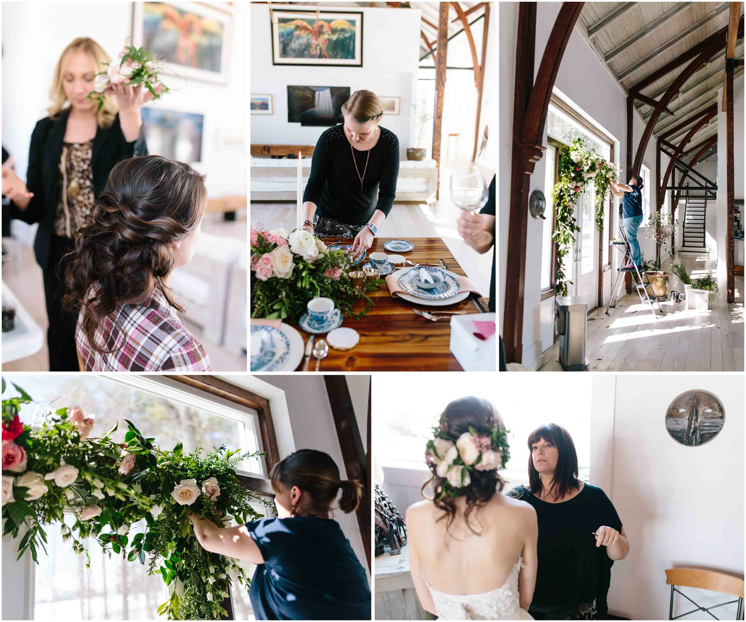 Intimate and romantic styled wedding photography in Lee, Massachusetts in the Berkshires - flowers, hair, and makeup