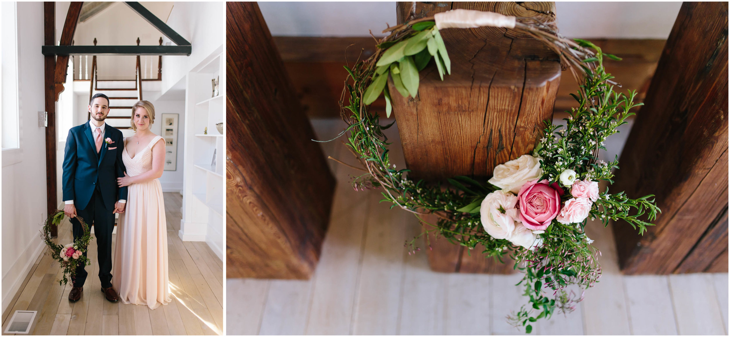 Intimate and romantic styled wedding photography in Lee, Massachusetts in the Berkshires - maid/matron of honor and best man, flowers
