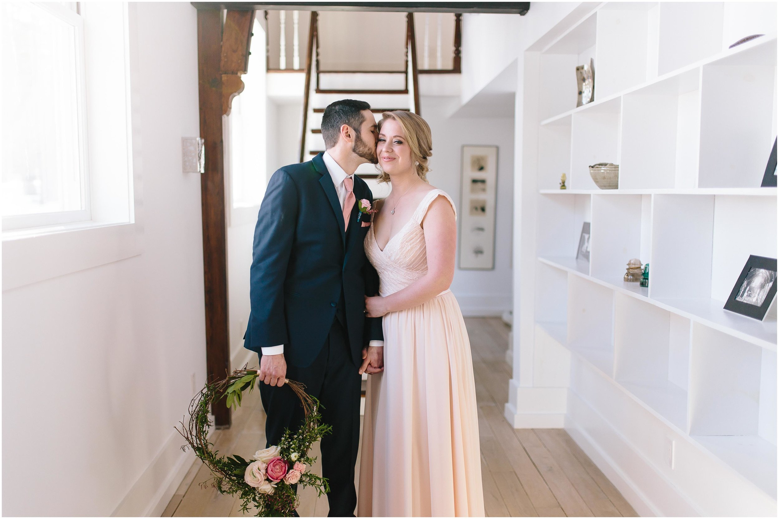 Intimate and romantic styled wedding photography in Lee, Massachusetts in the Berkshires - maid/matron of honor and best man