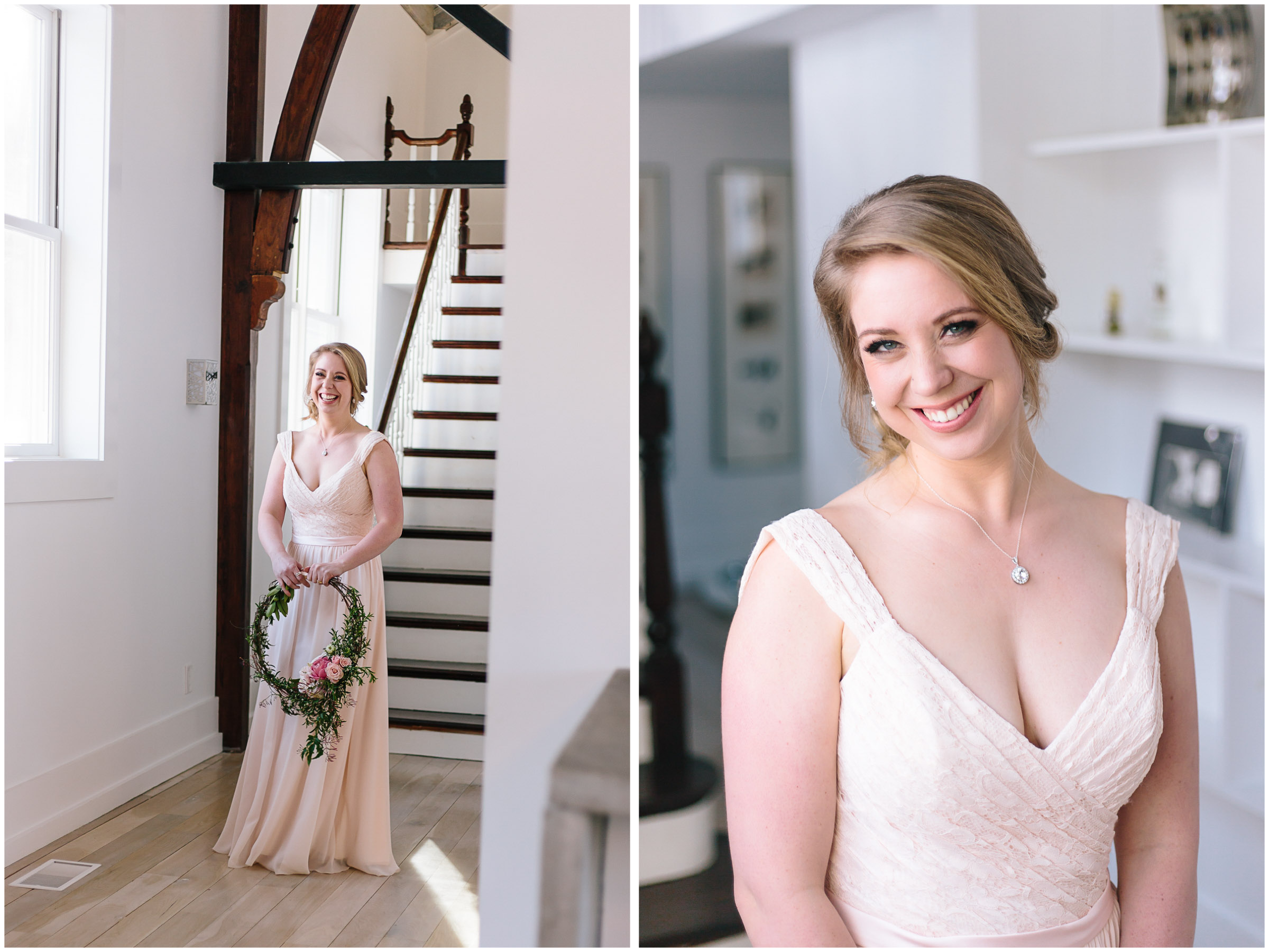 Intimate and romantic styled wedding photography in Lee, Massachusetts in the Berkshires - maid/matron of honor