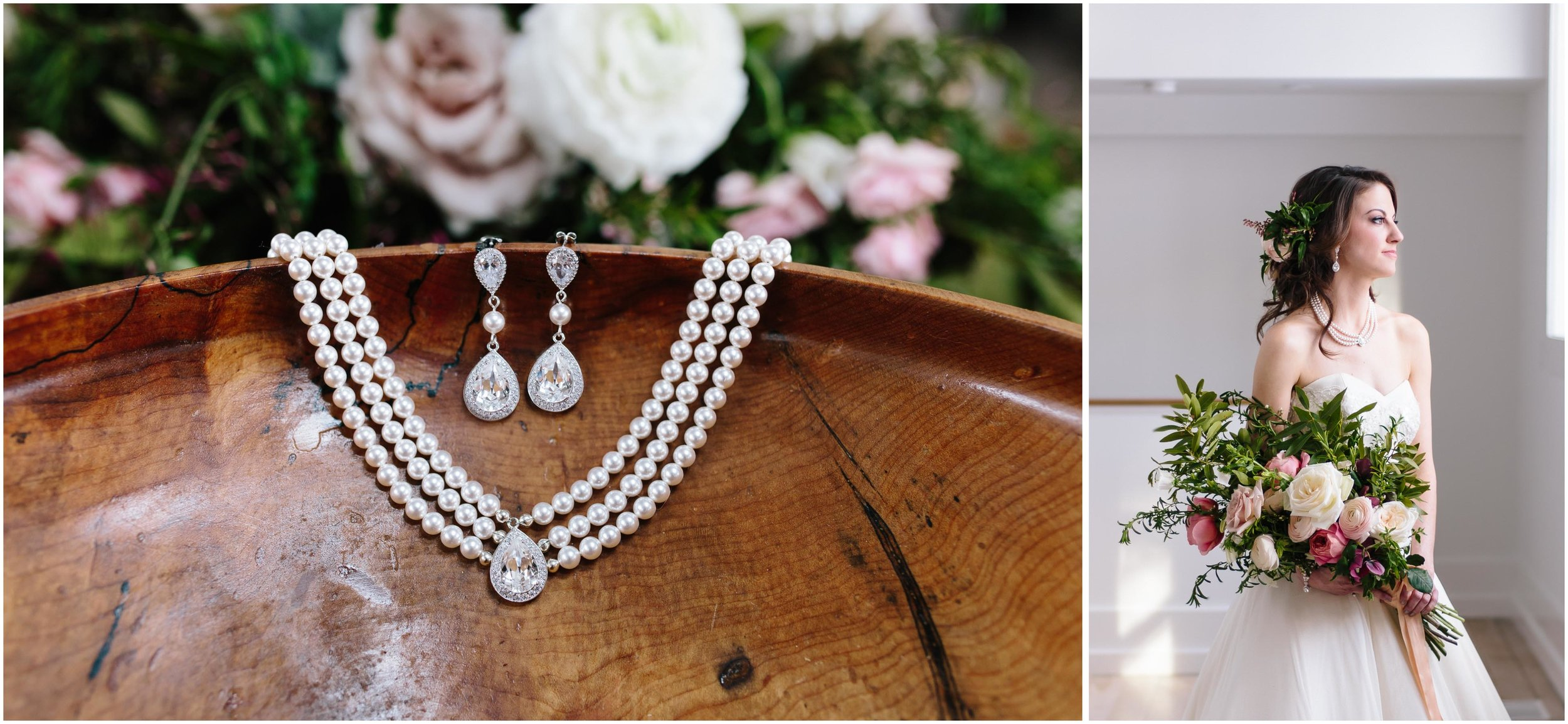 Intimate and romantic styled wedding photography in Lee, Massachusetts in the Berkshires - bride and jewelry