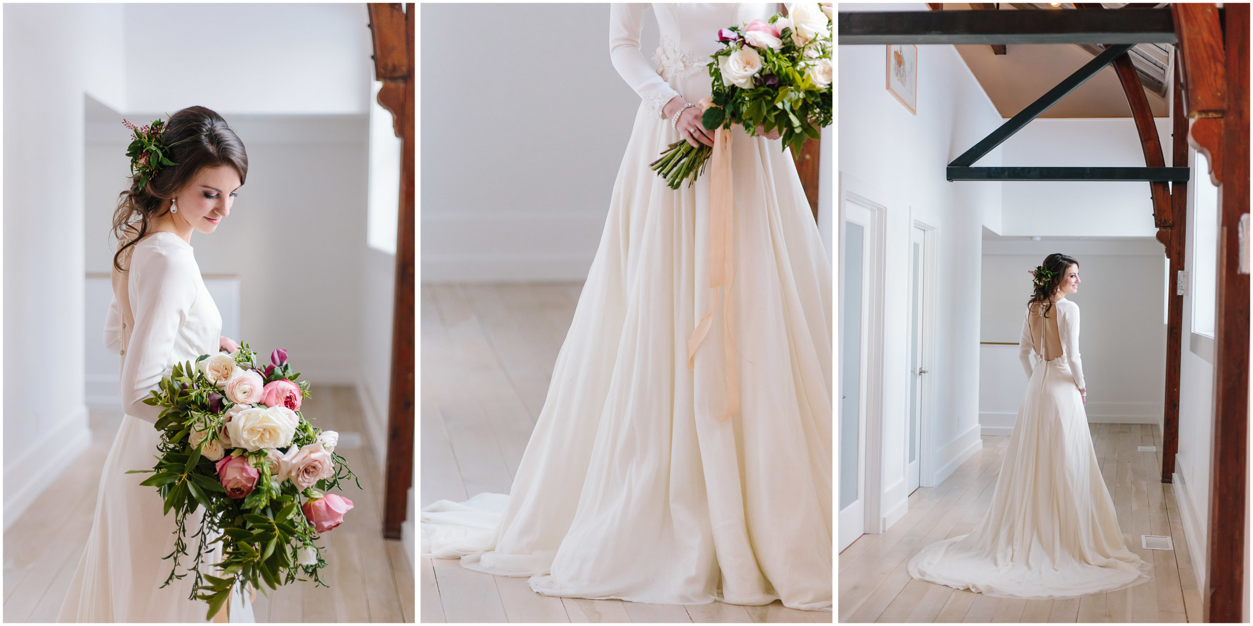 Intimate and romantic styled wedding photography in Lee, Massachusetts in the Berkshires - bride