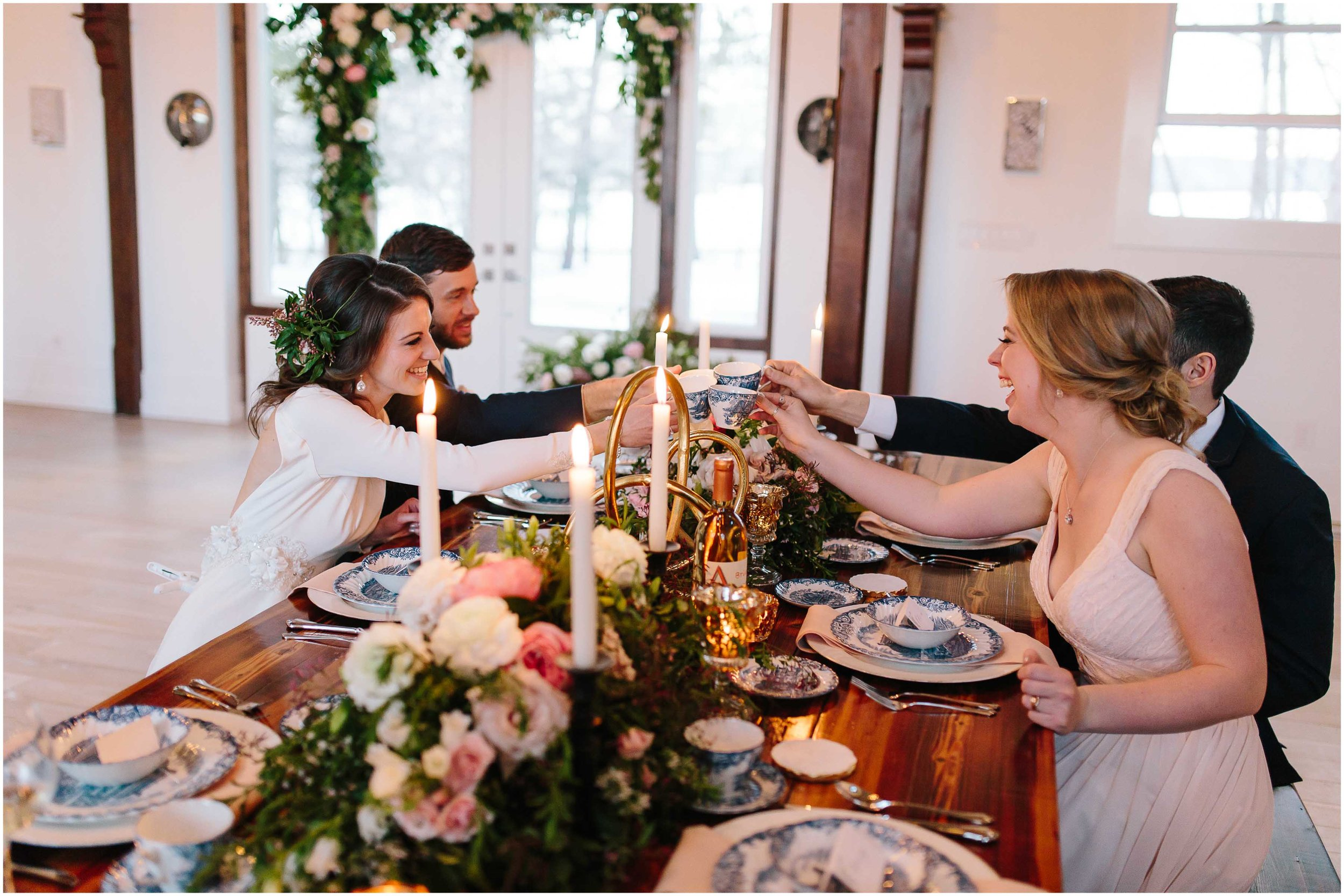 Intimate and romantic styled wedding photography in Lee, Massachusetts in the Berkshires - wedding party