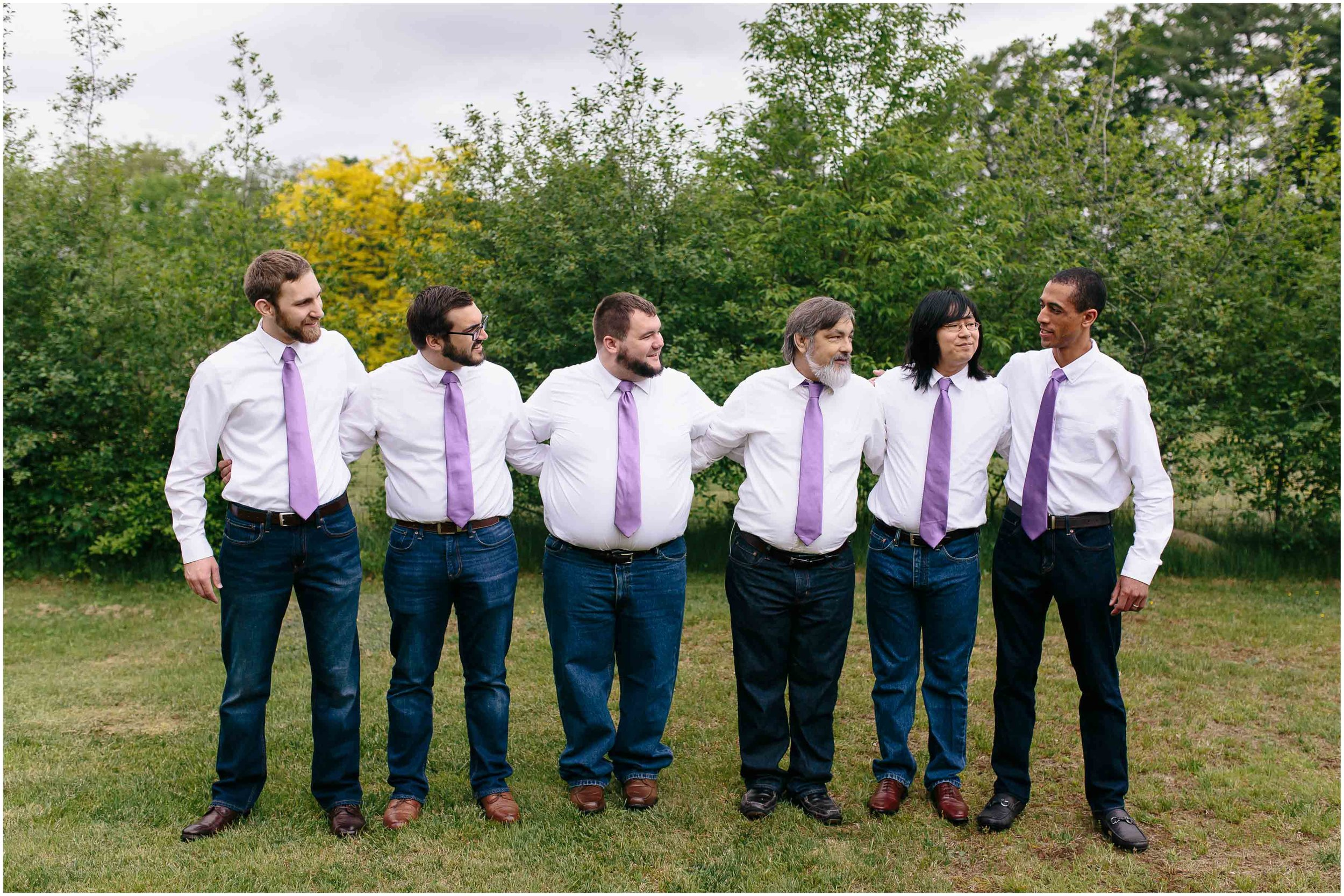 Charming Massachusetts countryside journalistic wedding by Ashleigh Laureen Photography - groom and groomsmen