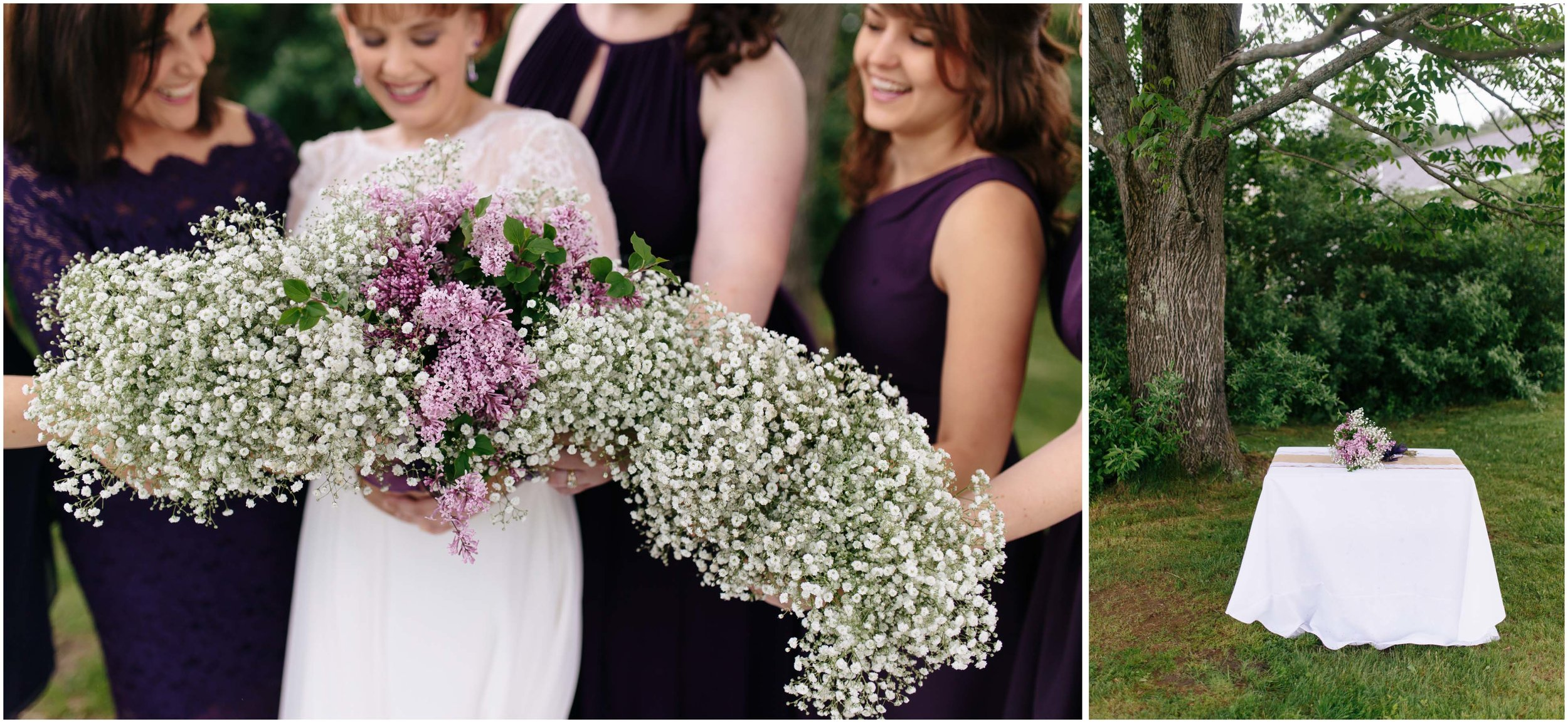 Charming Massachusetts countryside journalistic wedding by Ashleigh Laureen Photography - bride and bridesmaids