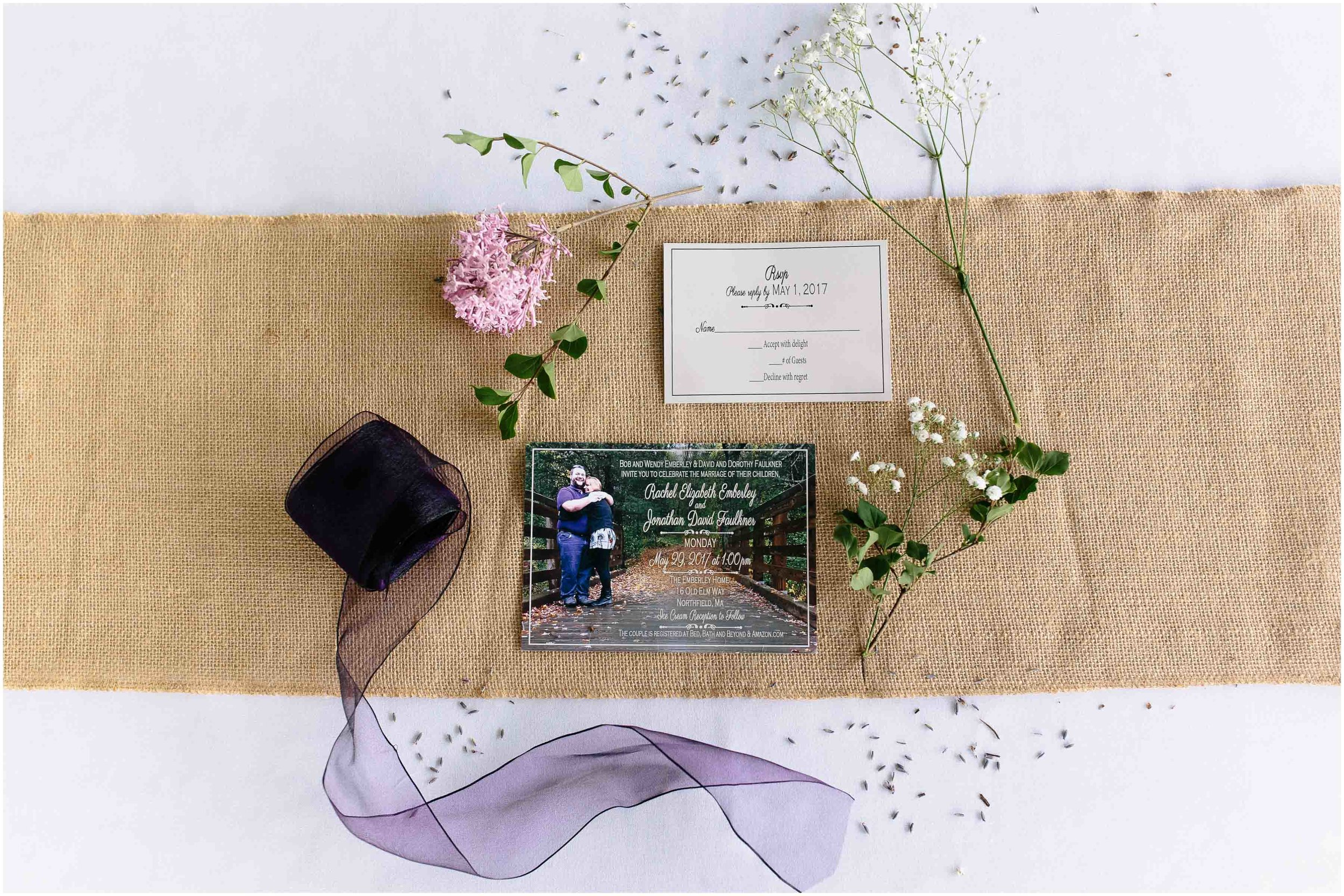 Charming Massachusetts countryside journalistic wedding by Ashleigh Laureen Photography - invitation suite