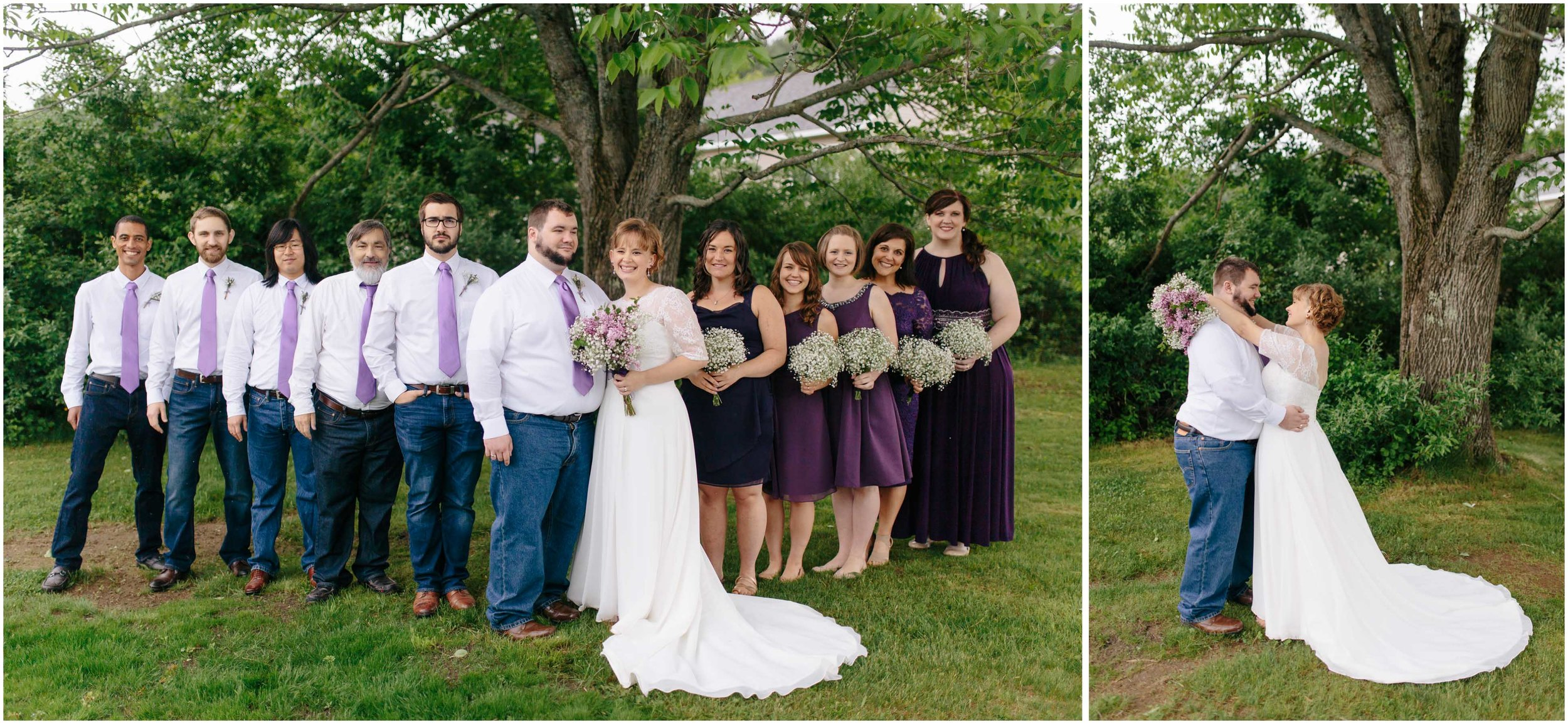 Charming Massachusetts countryside journalistic wedding by Ashleigh Laureen Photography - bride and groom and wedding party