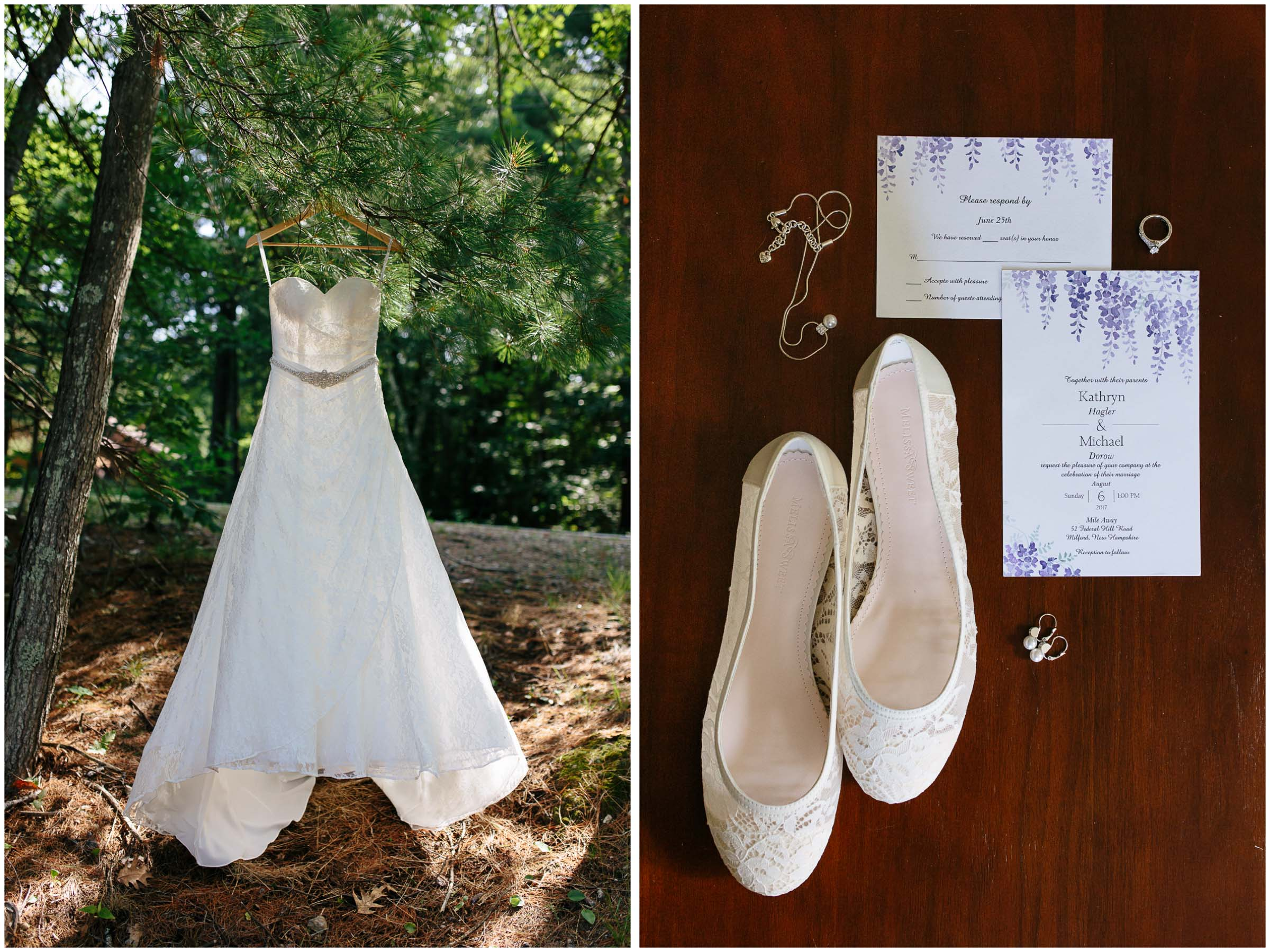 Sunny New Hampshire Summer Wedding at Mile Away Restaurant - Dress Shoes Jewelry