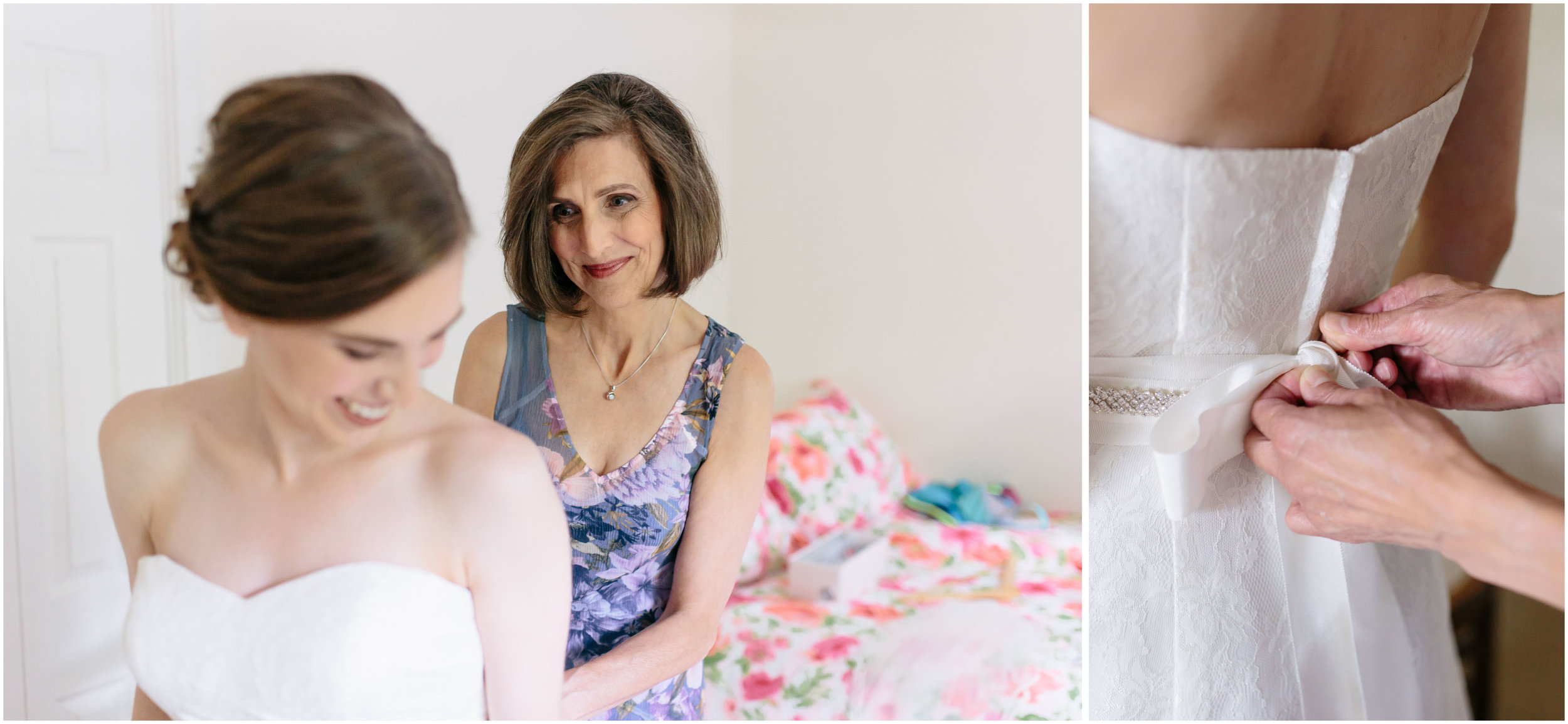 Sunny New Hampshire Summer Wedding at Mile Away Restaurant - mother of the bride and dress