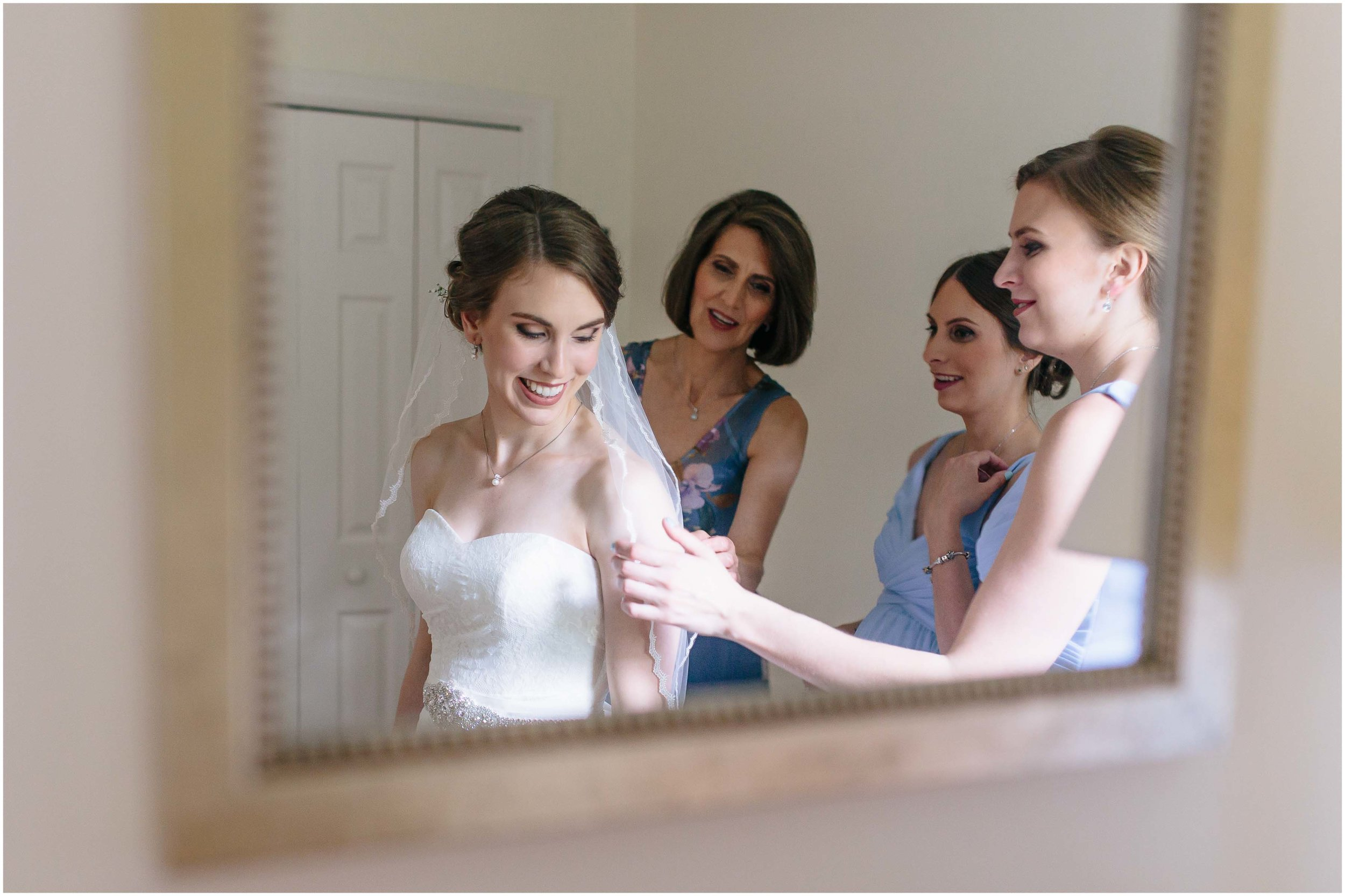 Sunny New Hampshire Summer Wedding at Mile Away Restaurant - mother and sisters