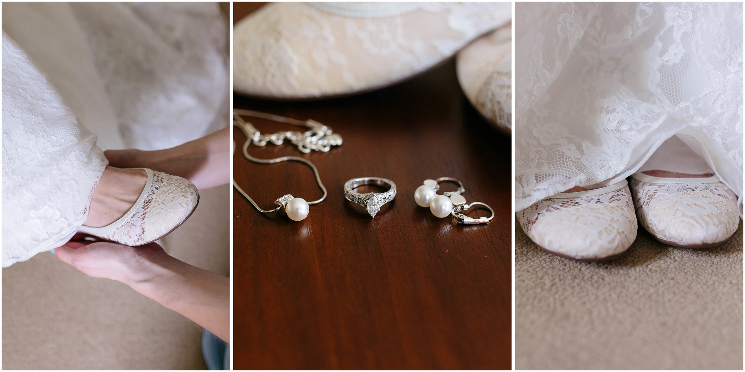 Sunny New Hampshire Summer Wedding at Mile Away Restaurant - shoes rings jewelry