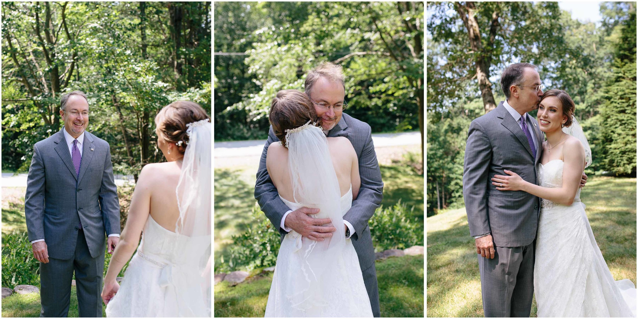 Sunny New Hampshire Summer Wedding at Mile Away Restaurant - father of the bride