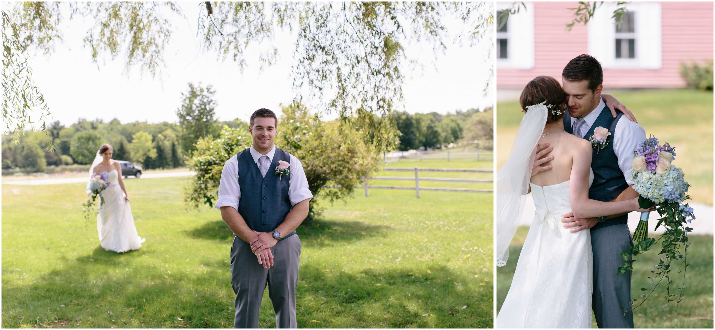 Sunny New Hampshire Summer Wedding at Mile Away Restaurant - first look