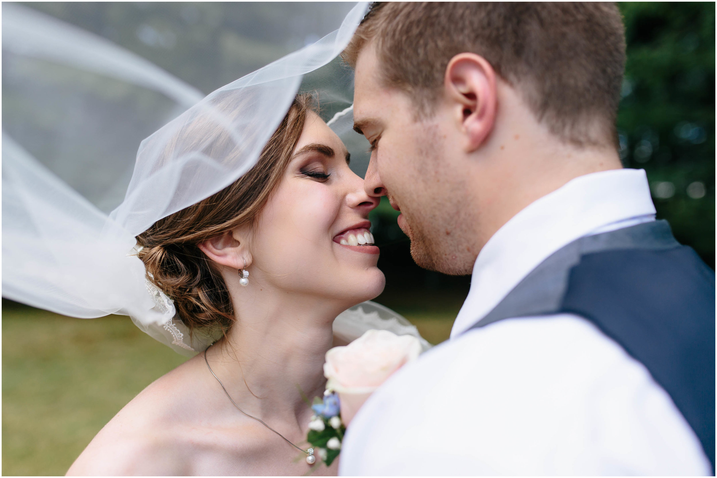 Sunny New Hampshire Summer Wedding at Mile Away Restaurant Milford - bride and groom
