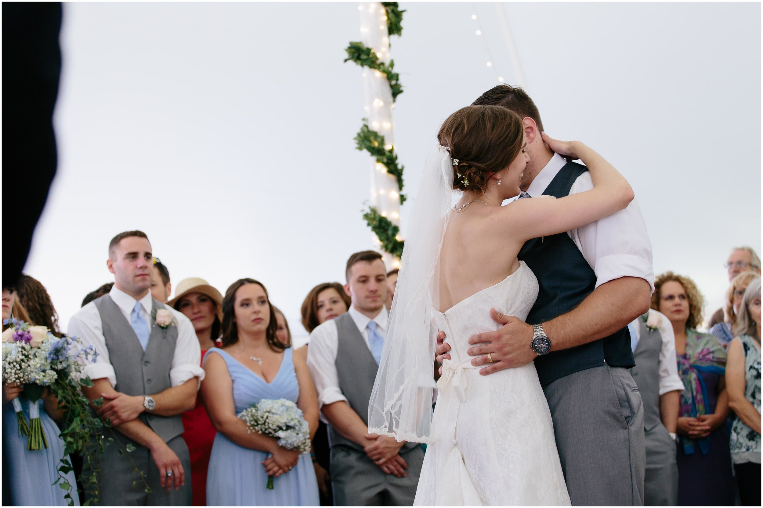 Sunny New Hampshire Summer Wedding at Mile Away Restaurant Milford - first dance