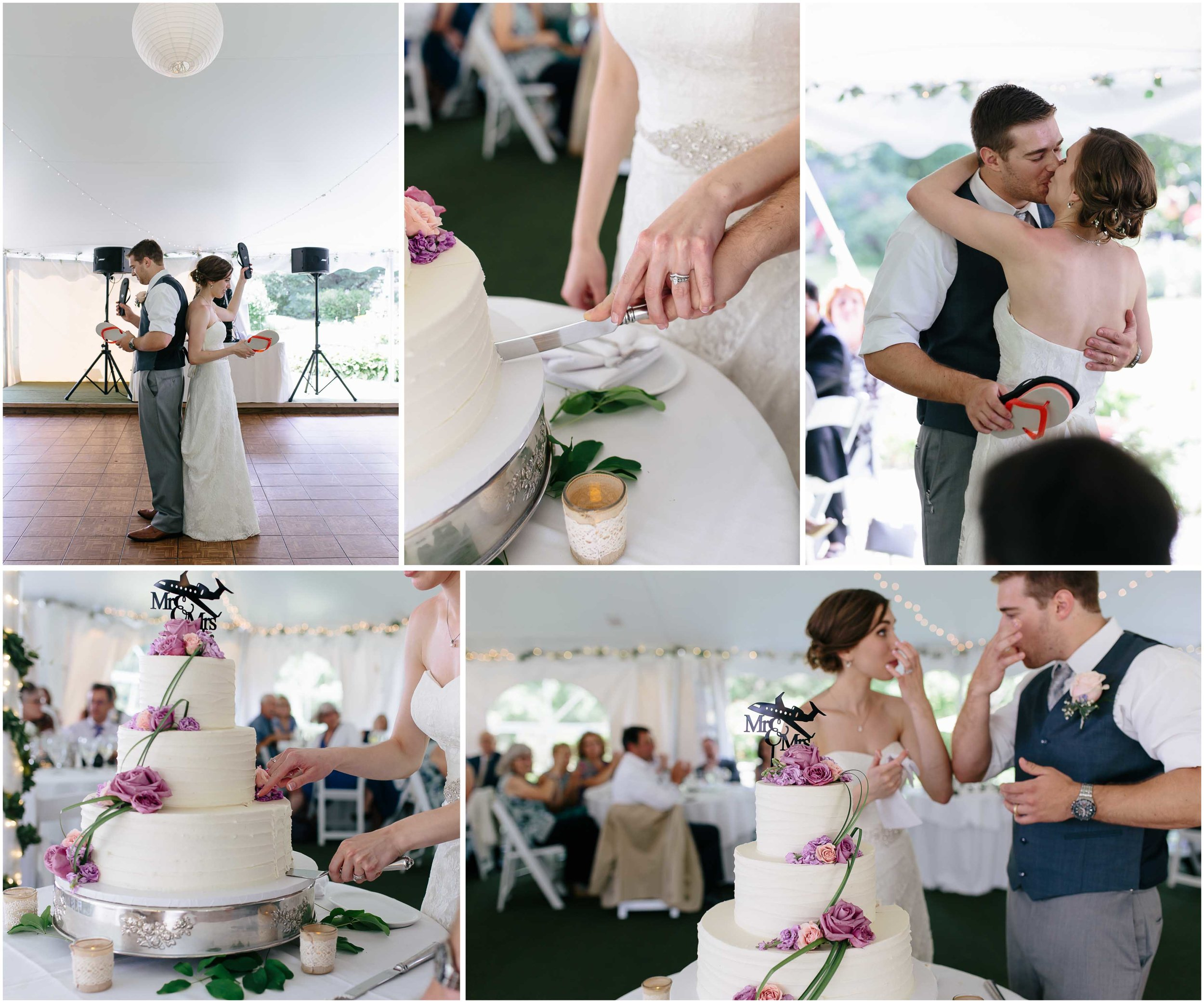 Sunny New Hampshire Summer Wedding at Mile Away Restaurant Milford - cake