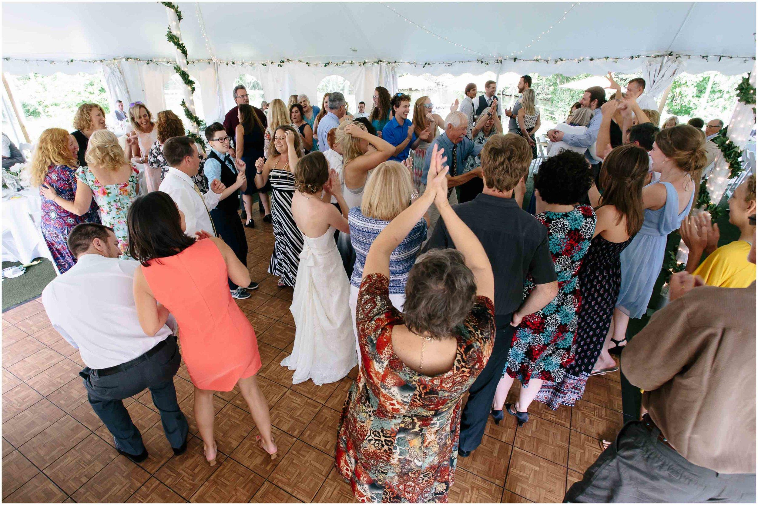Sunny New Hampshire Summer Wedding at Mile Away Restaurant Milford - dancing