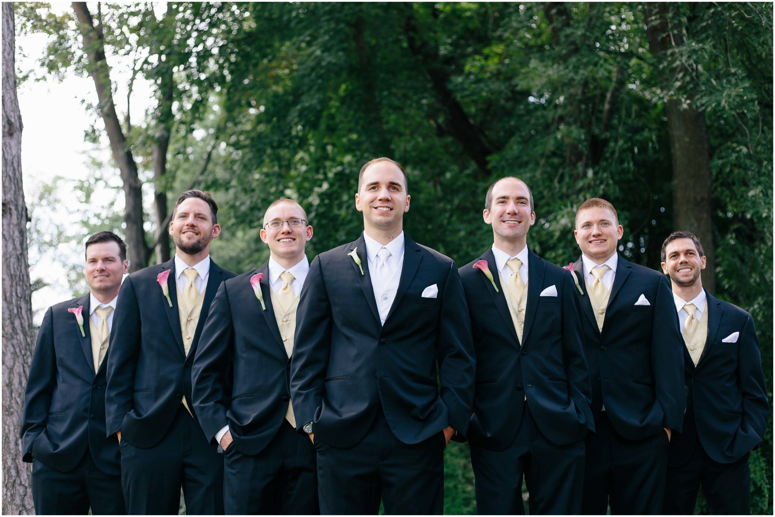 Chic New Hampshire Wedding at Manchester Country Club Bedford - groomsmen