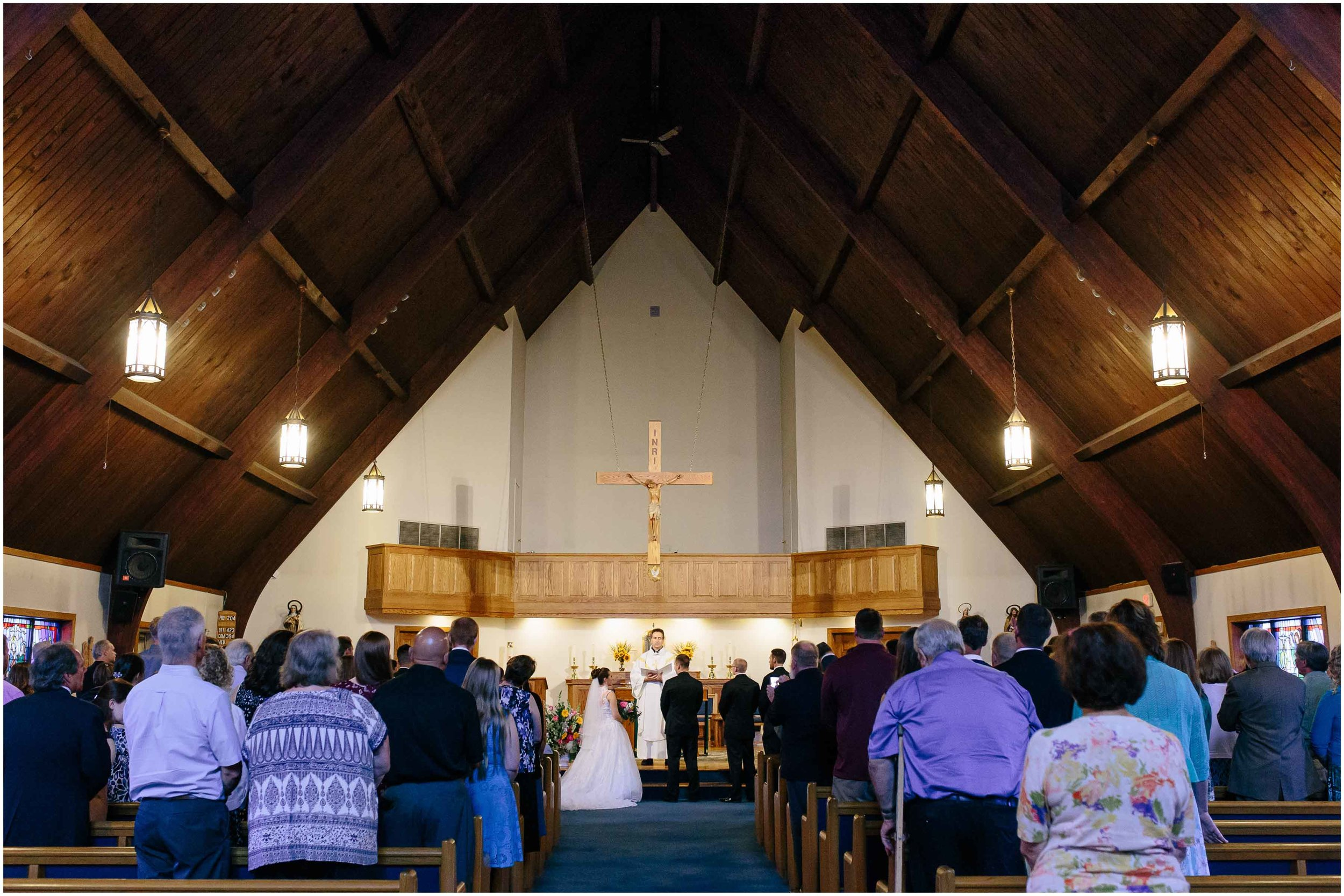 Chic New Hampshire Wedding at Manchester Country Club Bedford - Immaculate Heart of Mary Church