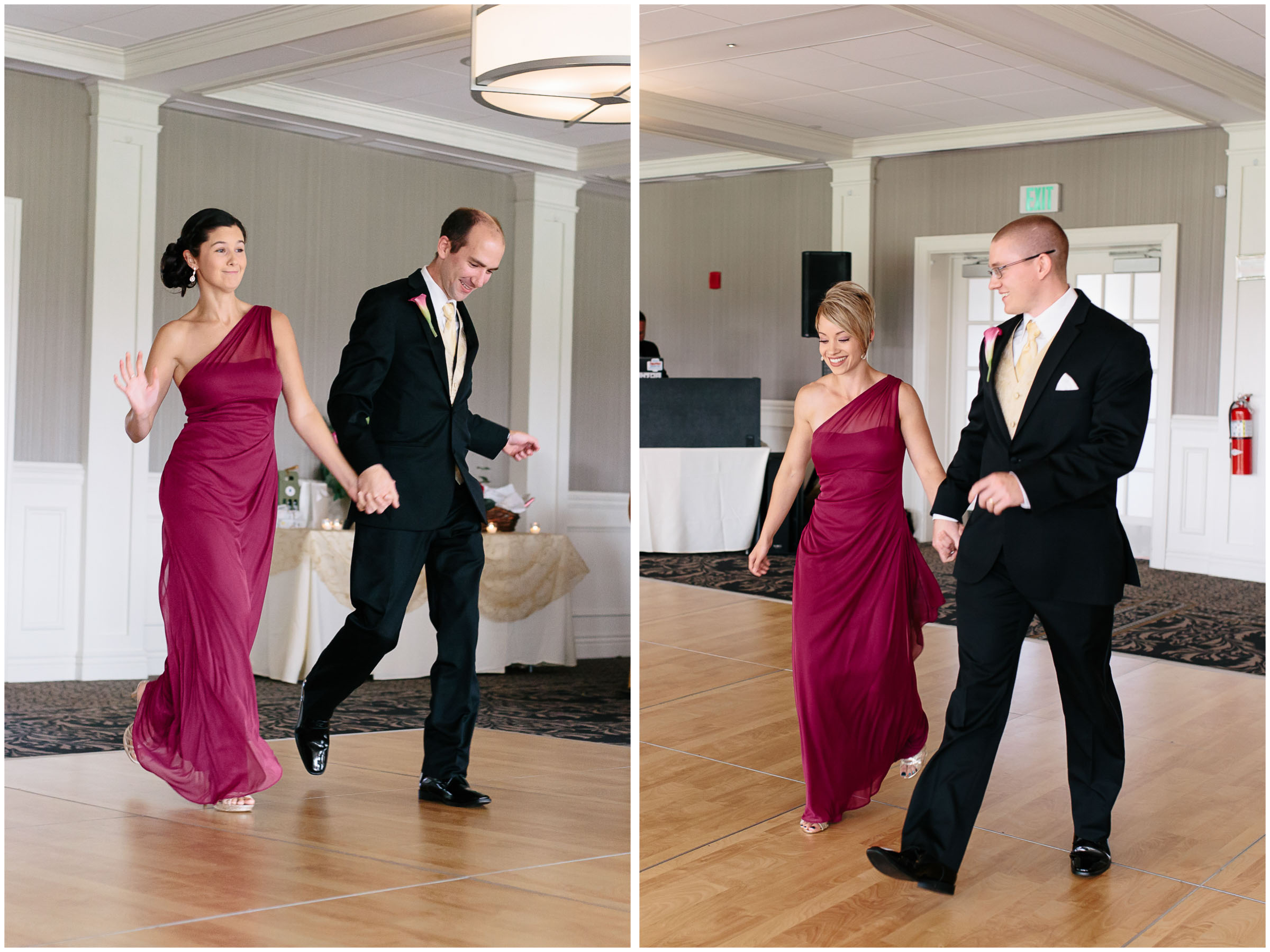 Chic New Hampshire Wedding at Manchester Country Club Bedford - dancing wedding party