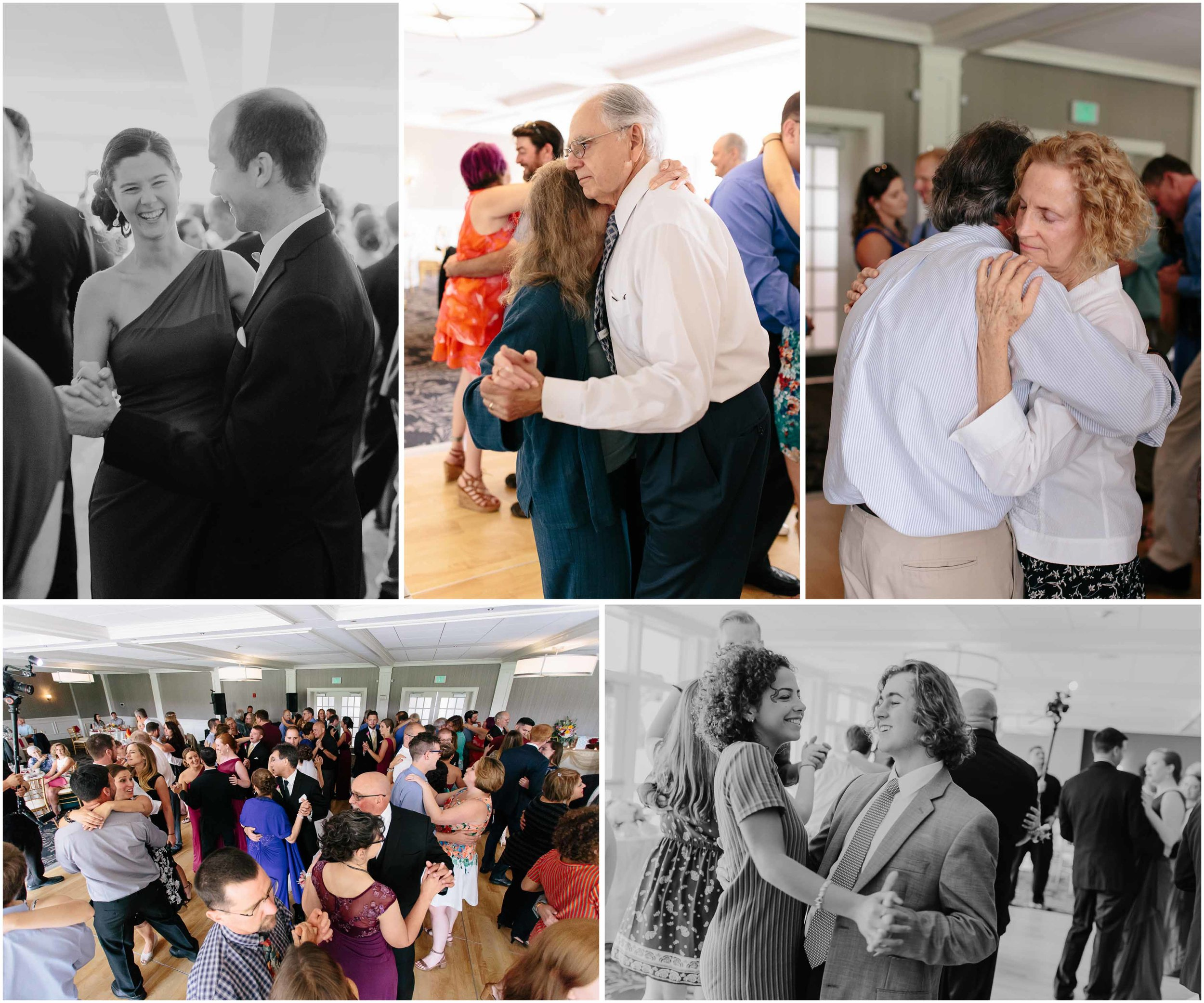 Chic New Hampshire Wedding at Manchester Country Club Bedford - dancing