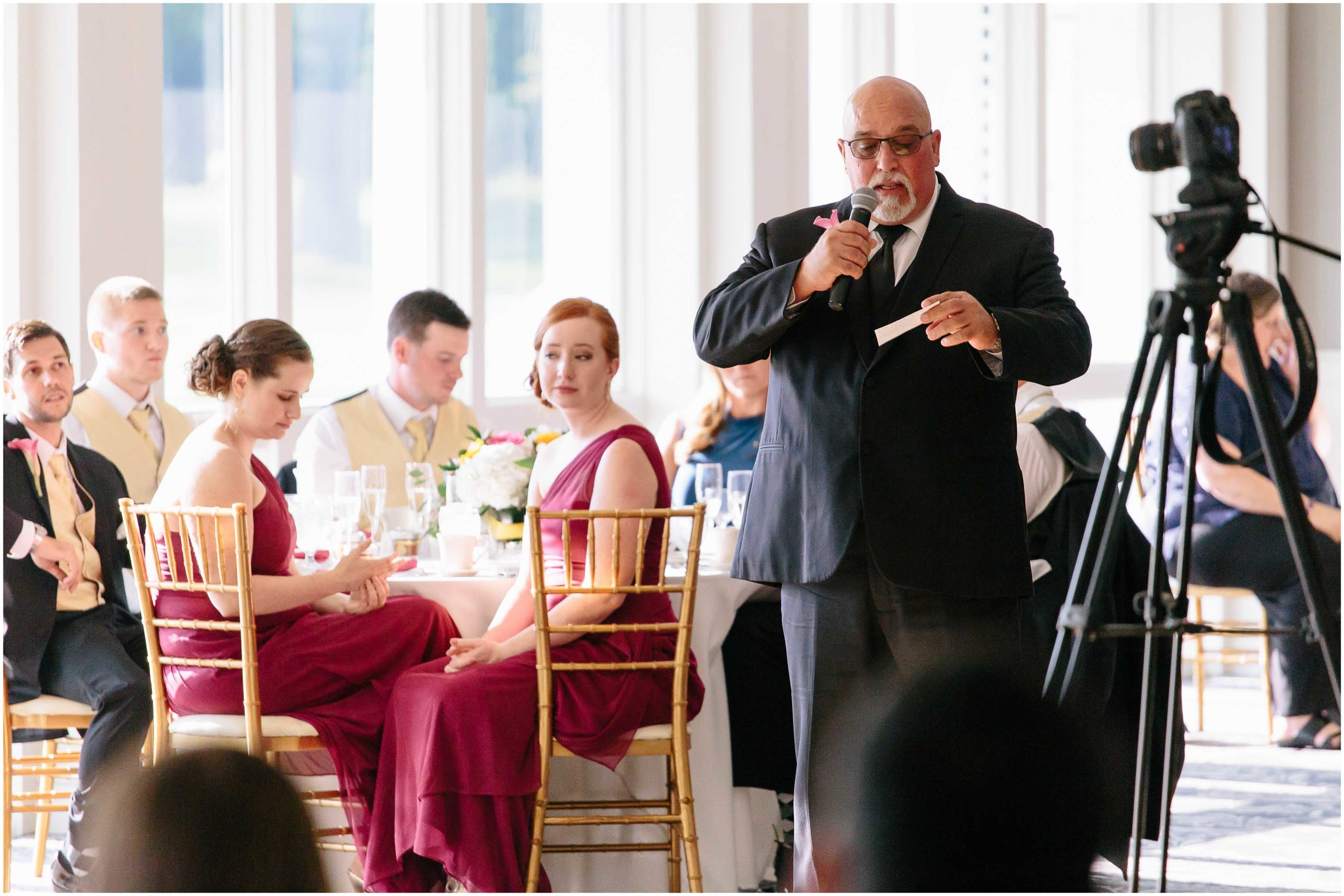 Chic New Hampshire Wedding at Manchester Country Club Bedford - father of the groom speech